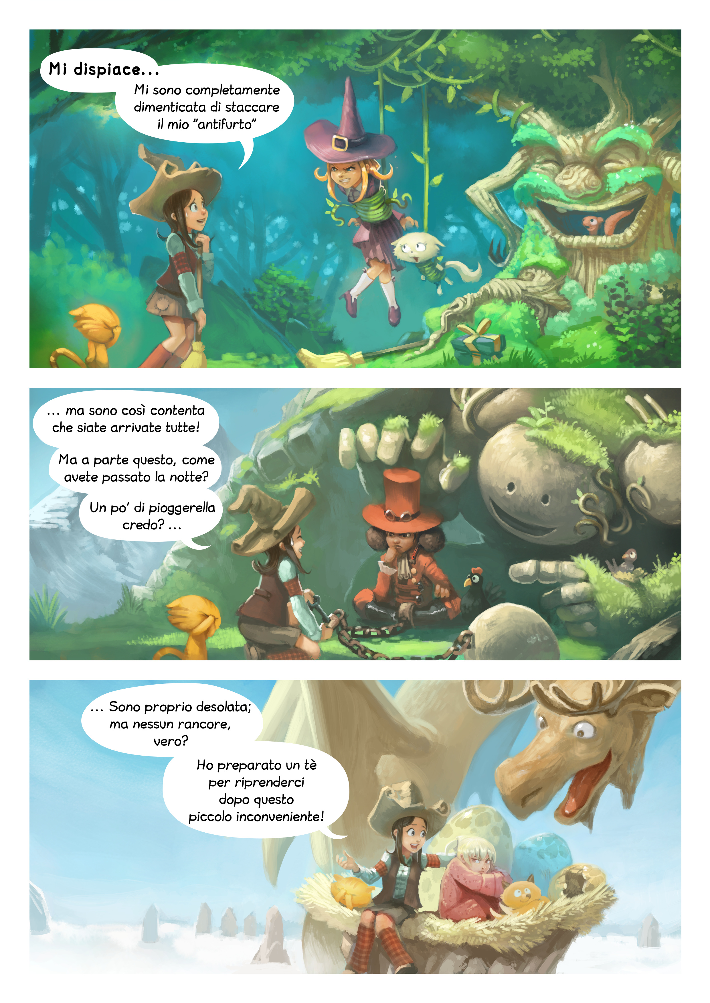 A webcomic page of Pepper&Carrot, episodio 9 [it], pagina 2
