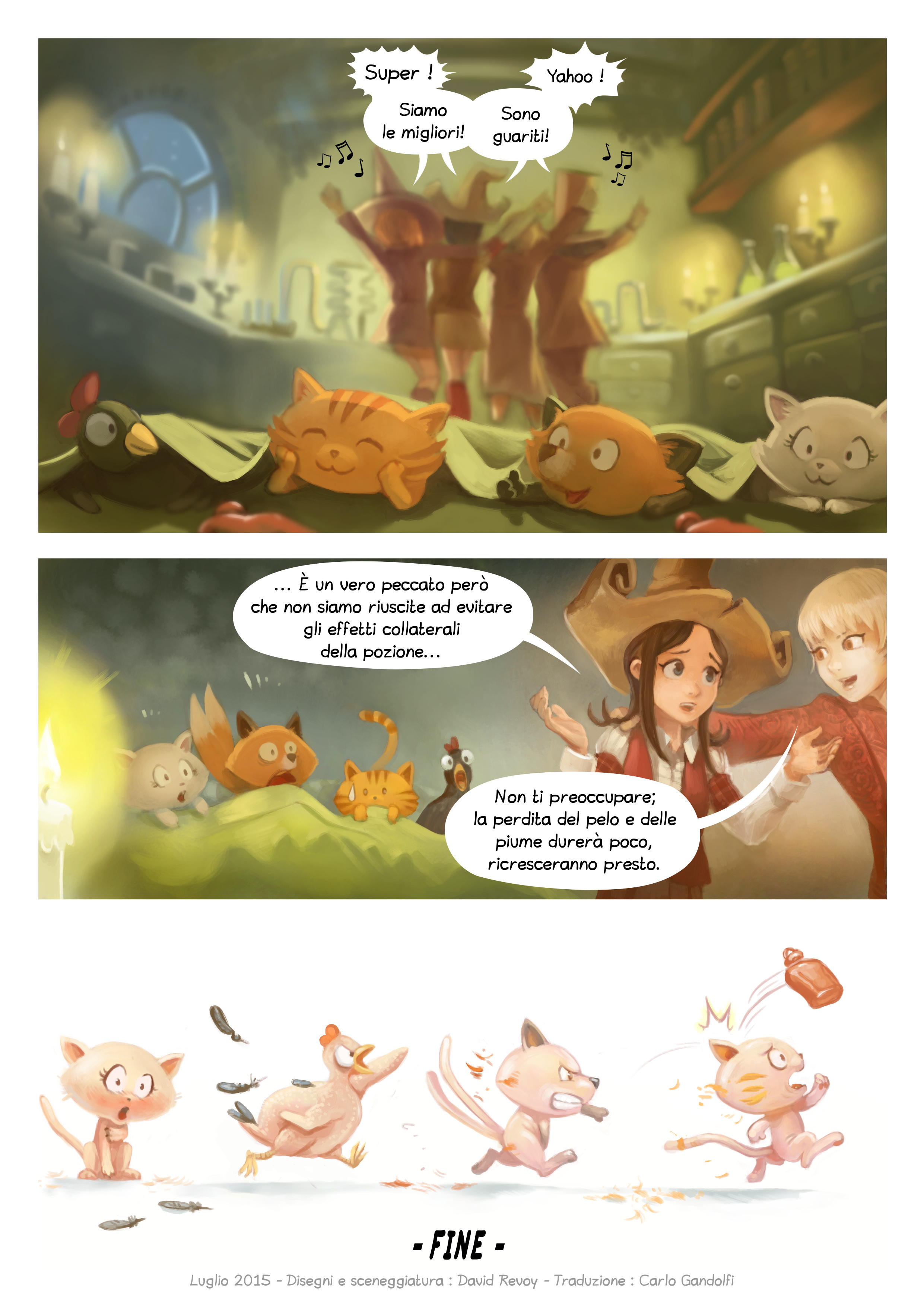 A webcomic page of Pepper&Carrot, episodio 9 [it], pagina 7