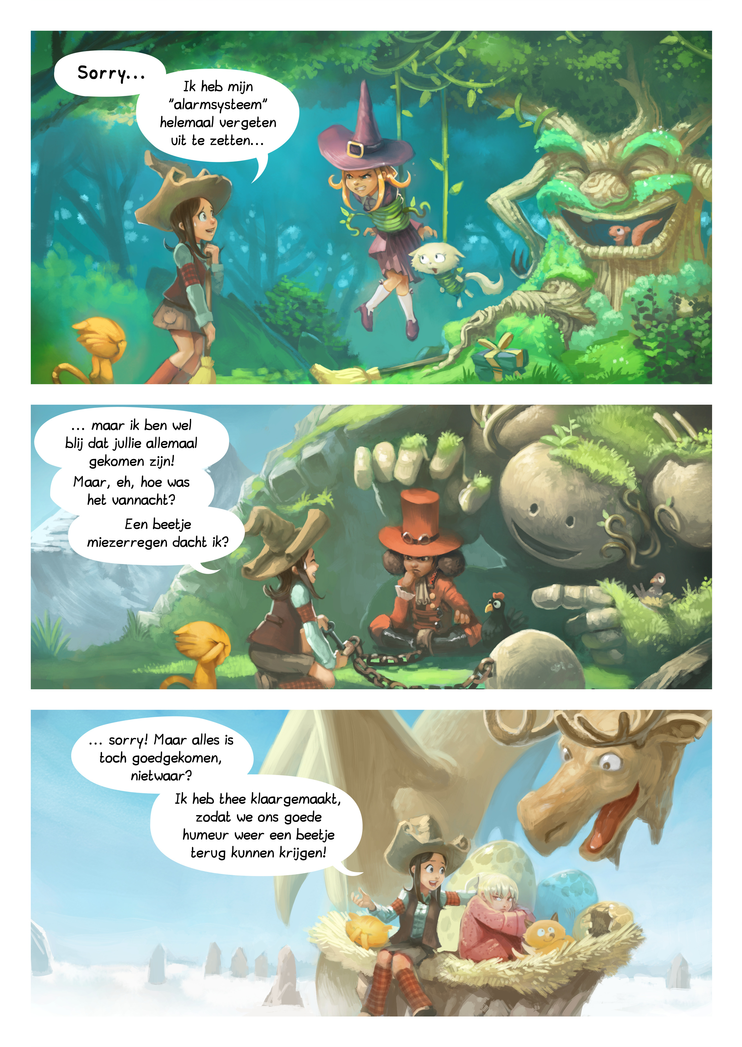 A webcomic page of Pepper&Carrot, aflevering 9 [nl], pagina 2