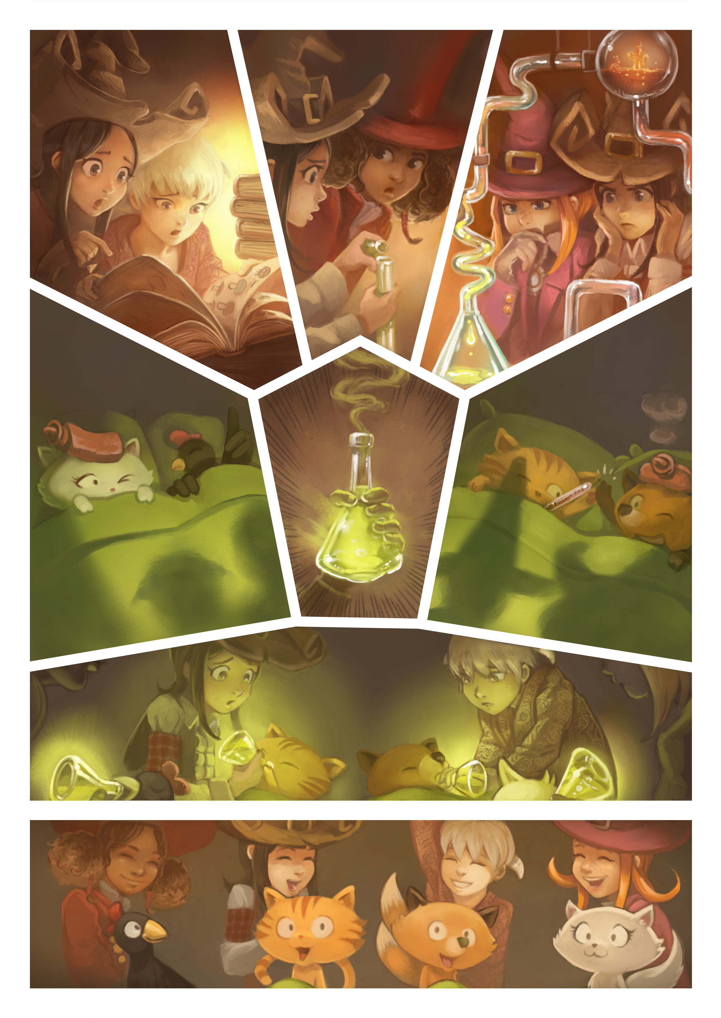 A webcomic page of Pepper&Carrot, aflevering 9 [nl], pagina 6