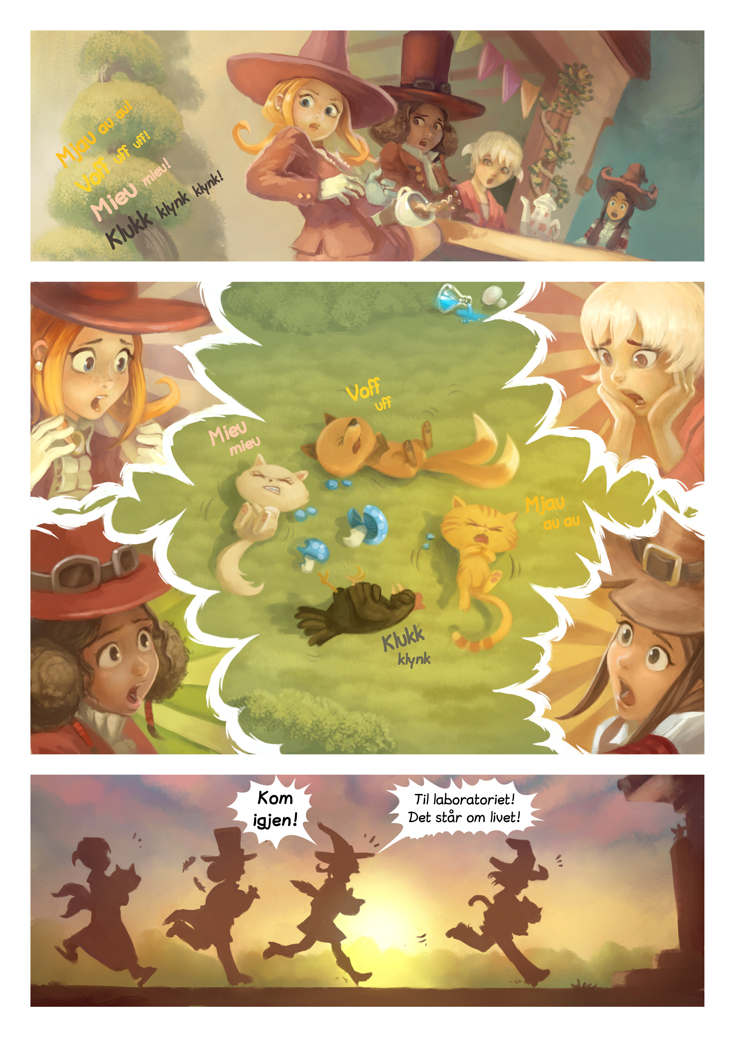 A webcomic page of Pepper&Carrot, episode 9 [nn], side 5