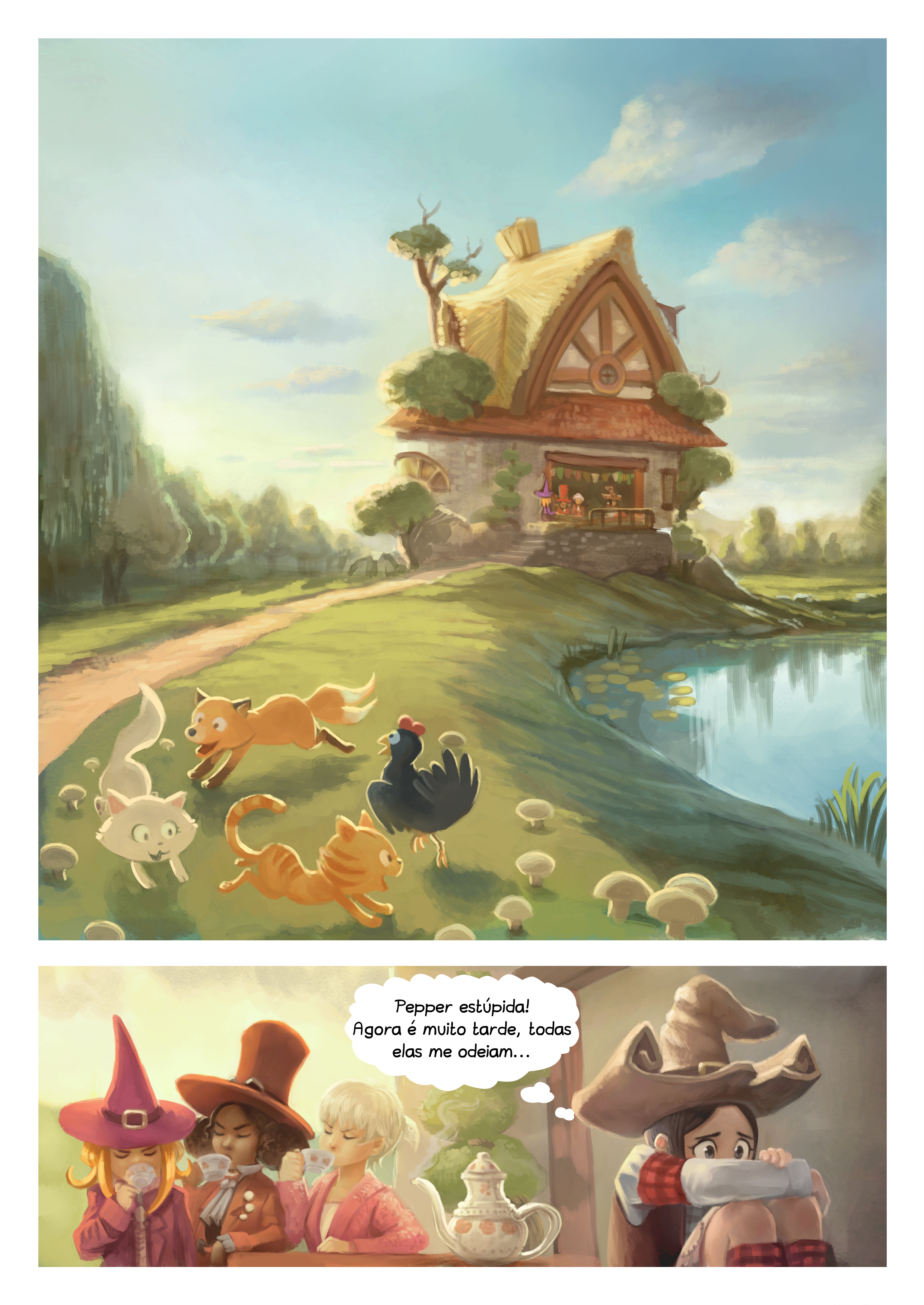 A webcomic page of Pepper&Carrot, episódio 9 [pt], página 3