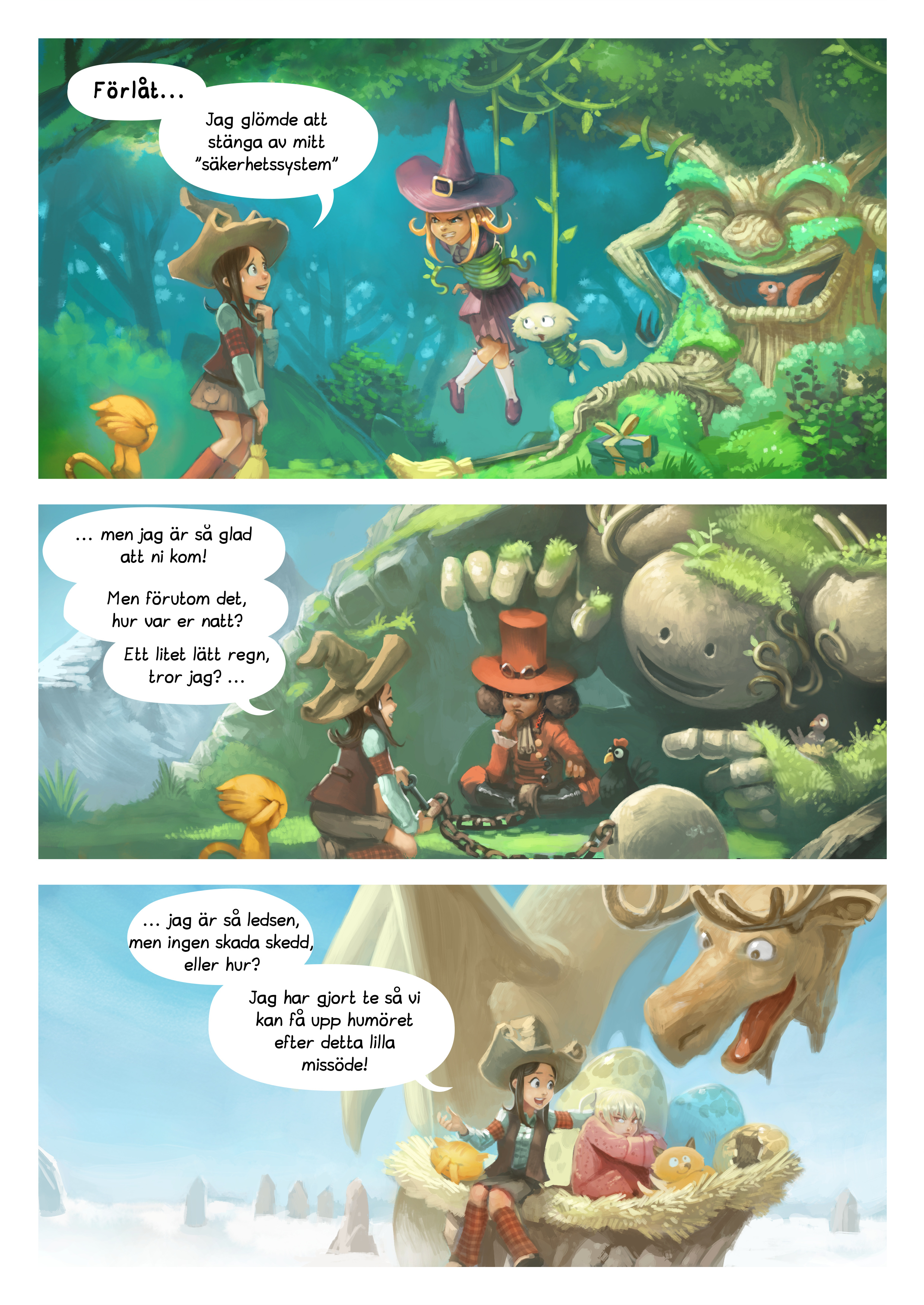 A webcomic page of Pepper&Carrot, episode 9 [sv], page 2