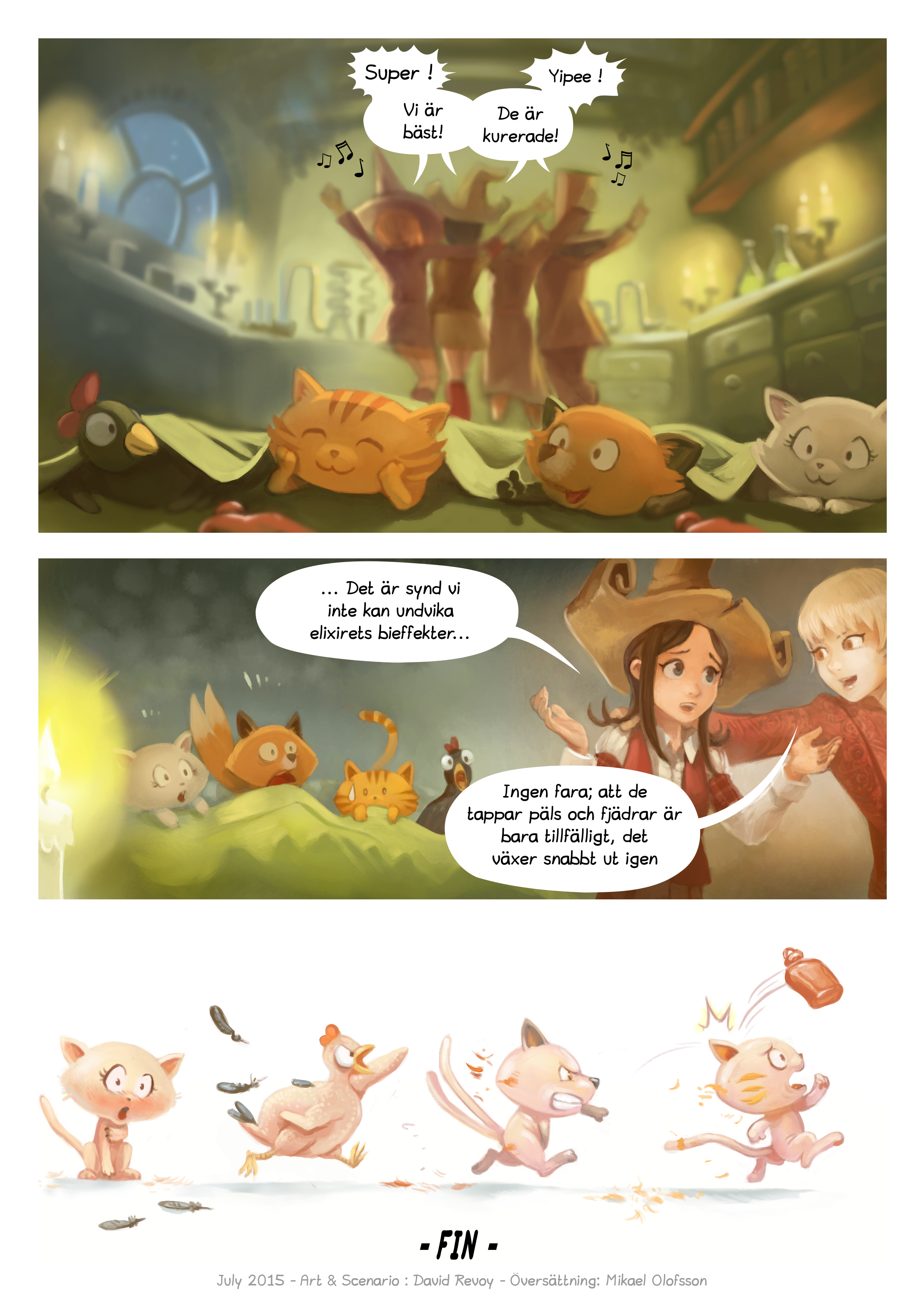 A webcomic page of Pepper&Carrot, episode 9 [sv], page 7