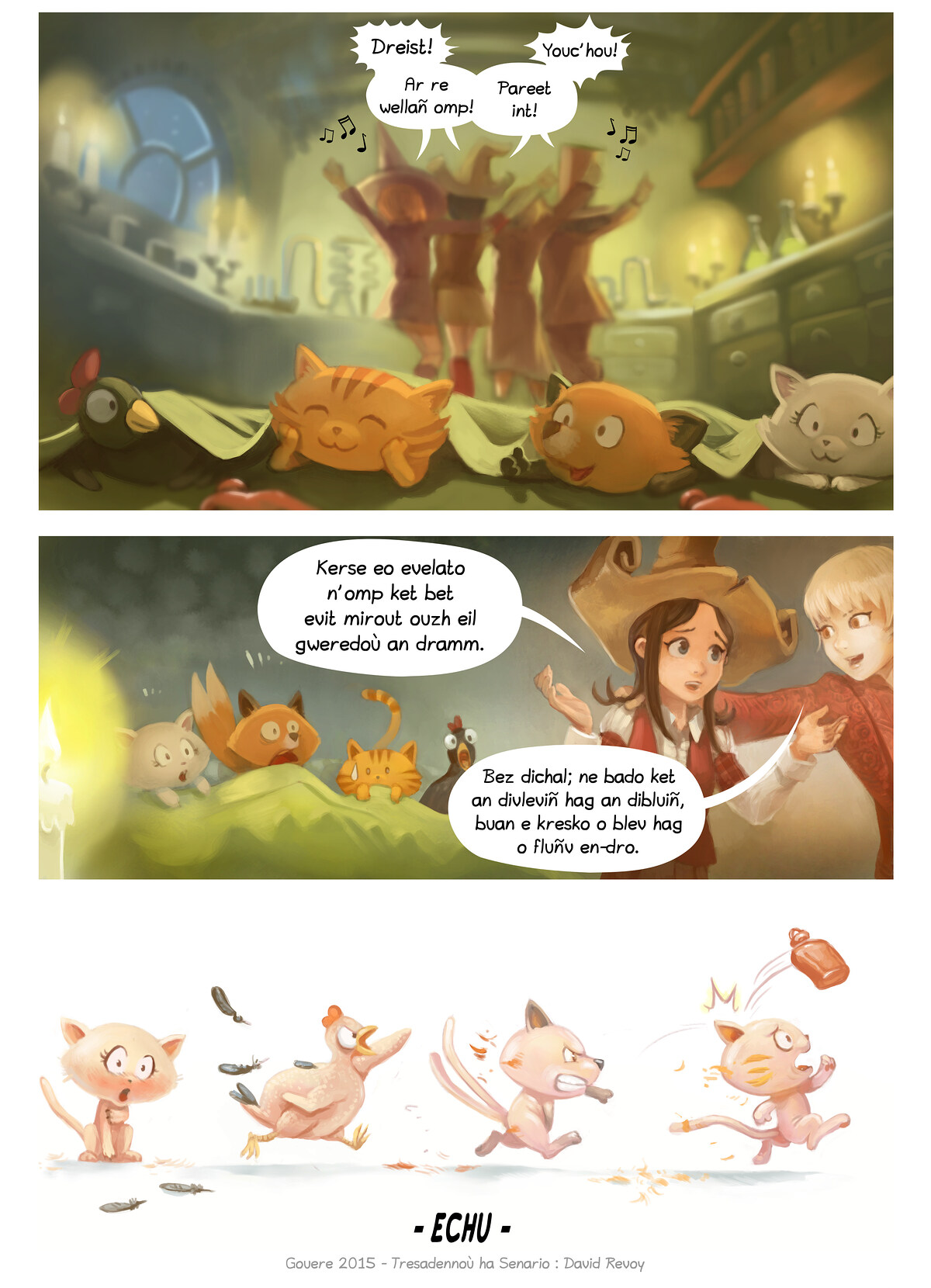 A webcomic page of Pepper&Carrot, rann 9 [br], pajenn 7