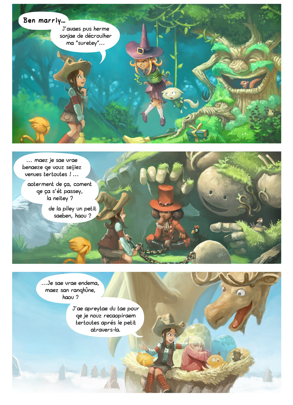 A webcomic page of Pepper&Carrot, episode 9 [go], page 2