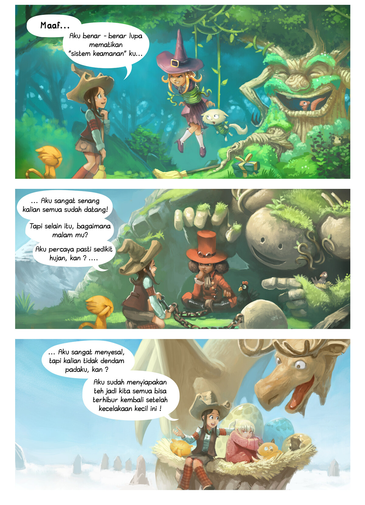 A webcomic page of Pepper&Carrot, episode 9 [id], halaman 2