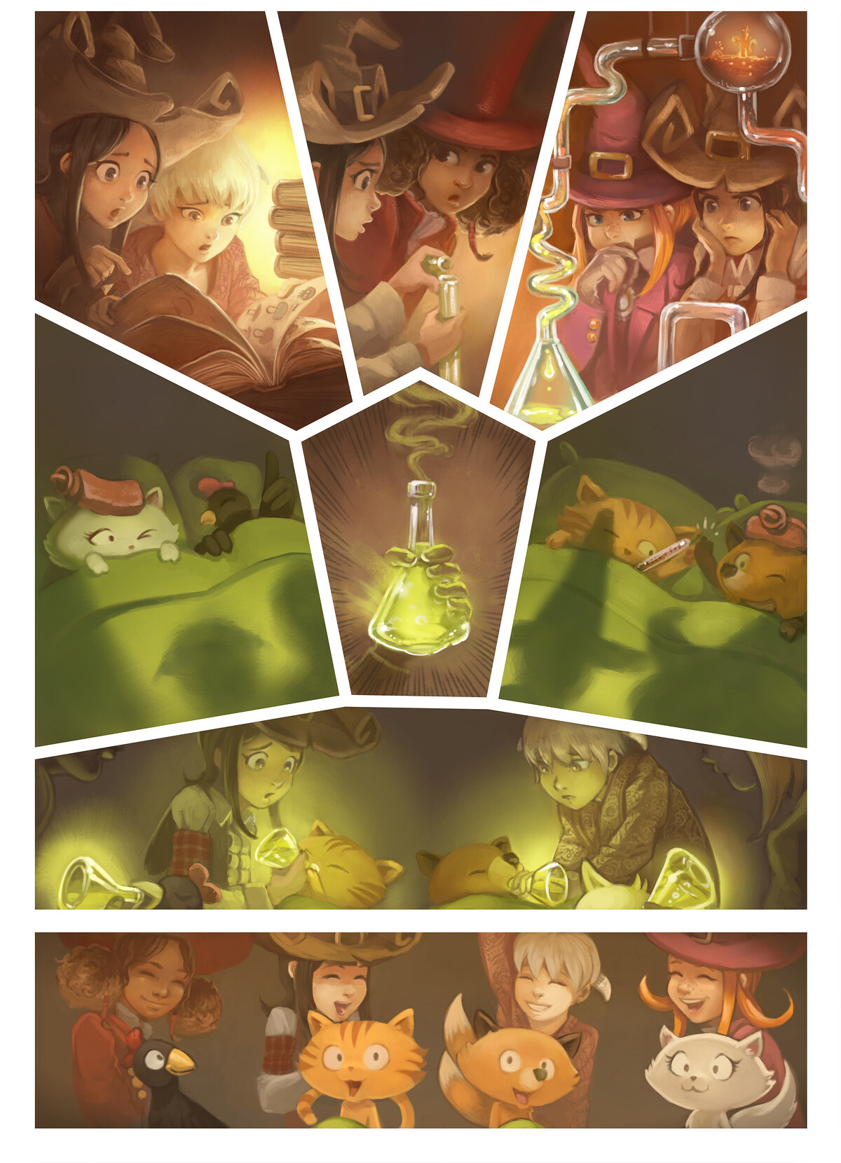 A webcomic page of Pepper&Carrot, 에피소드 9 [kr], 페이지 6