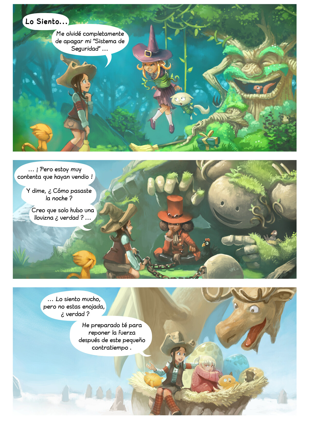 A webcomic page of Pepper&Carrot, episode 9 [mx], page 2