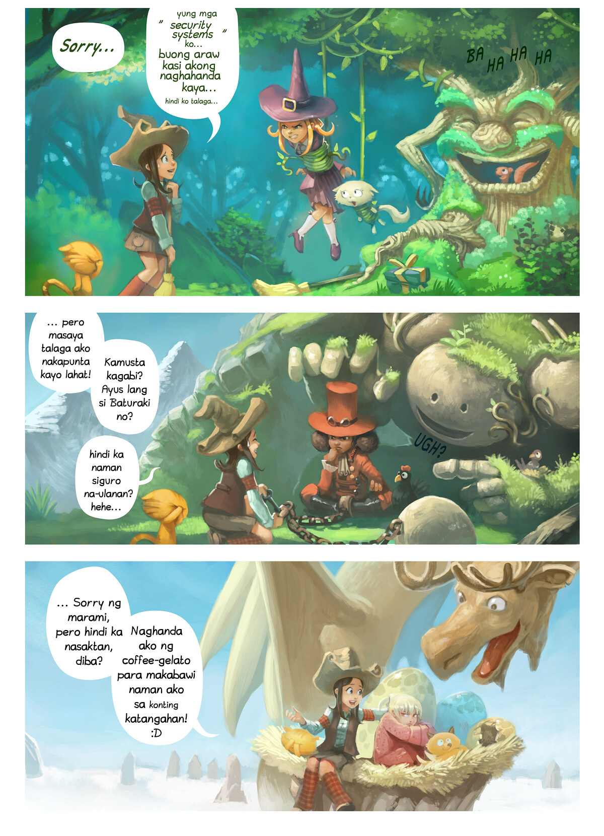 A webcomic page of Pepper&Carrot, episode 9 [ph], page 2