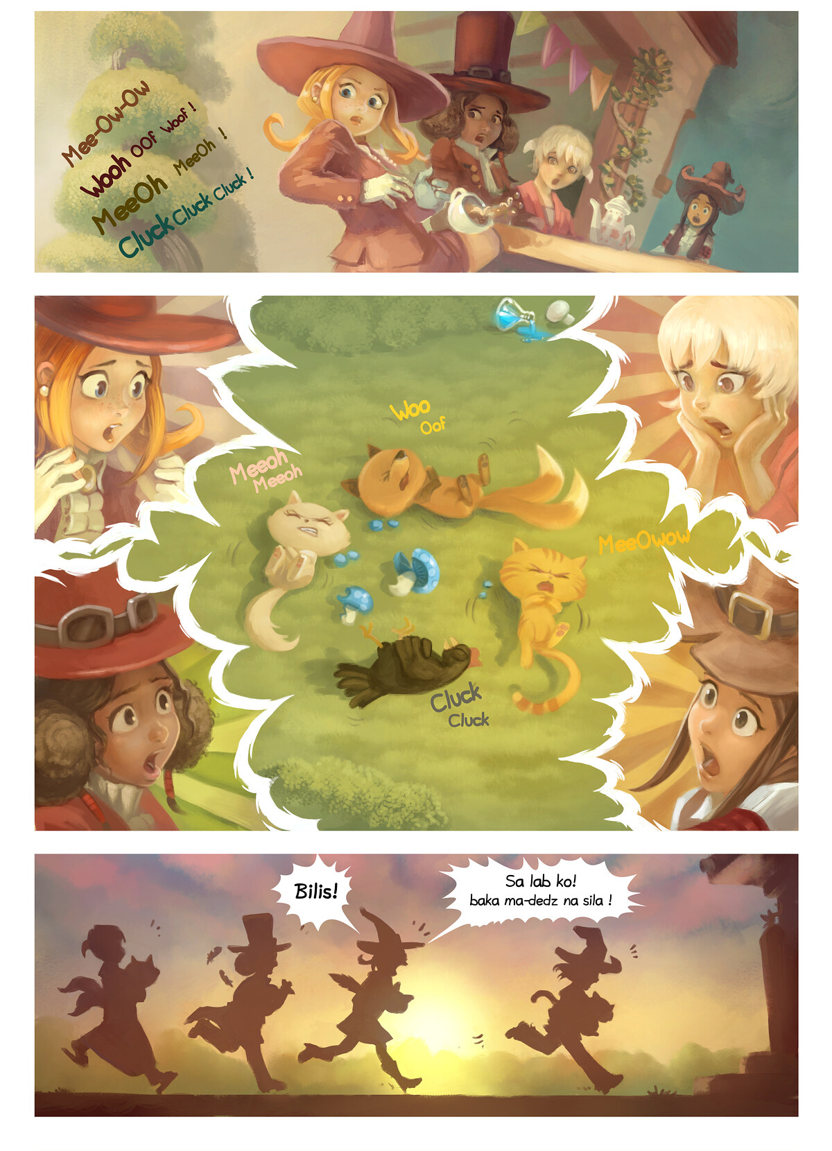 A webcomic page of Pepper&Carrot, episode 9 [ph], page 5