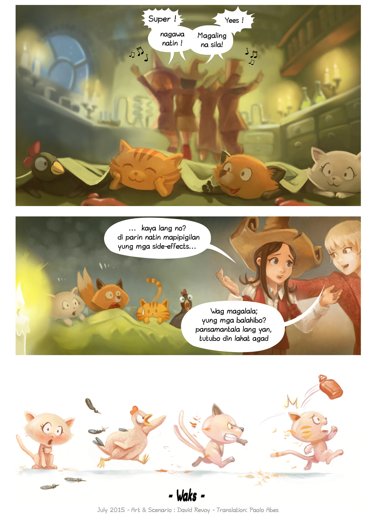 A webcomic page of Pepper&Carrot, episode 9 [ph], page 7