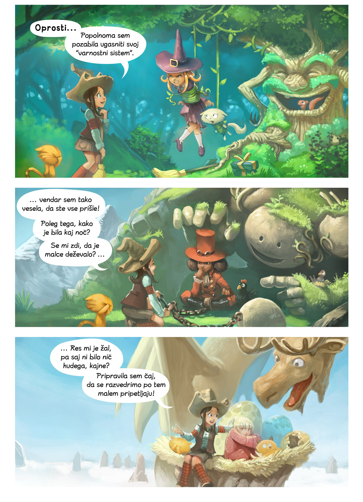 A webcomic page of Pepper&Carrot, epizoda 9 [sl], stran 2