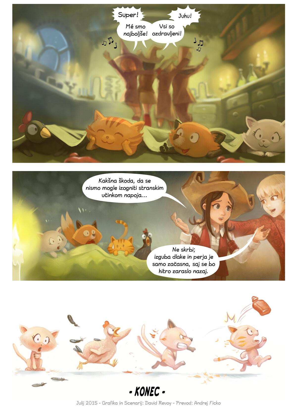 A webcomic page of Pepper&Carrot, epizoda 9 [sl], stran 7