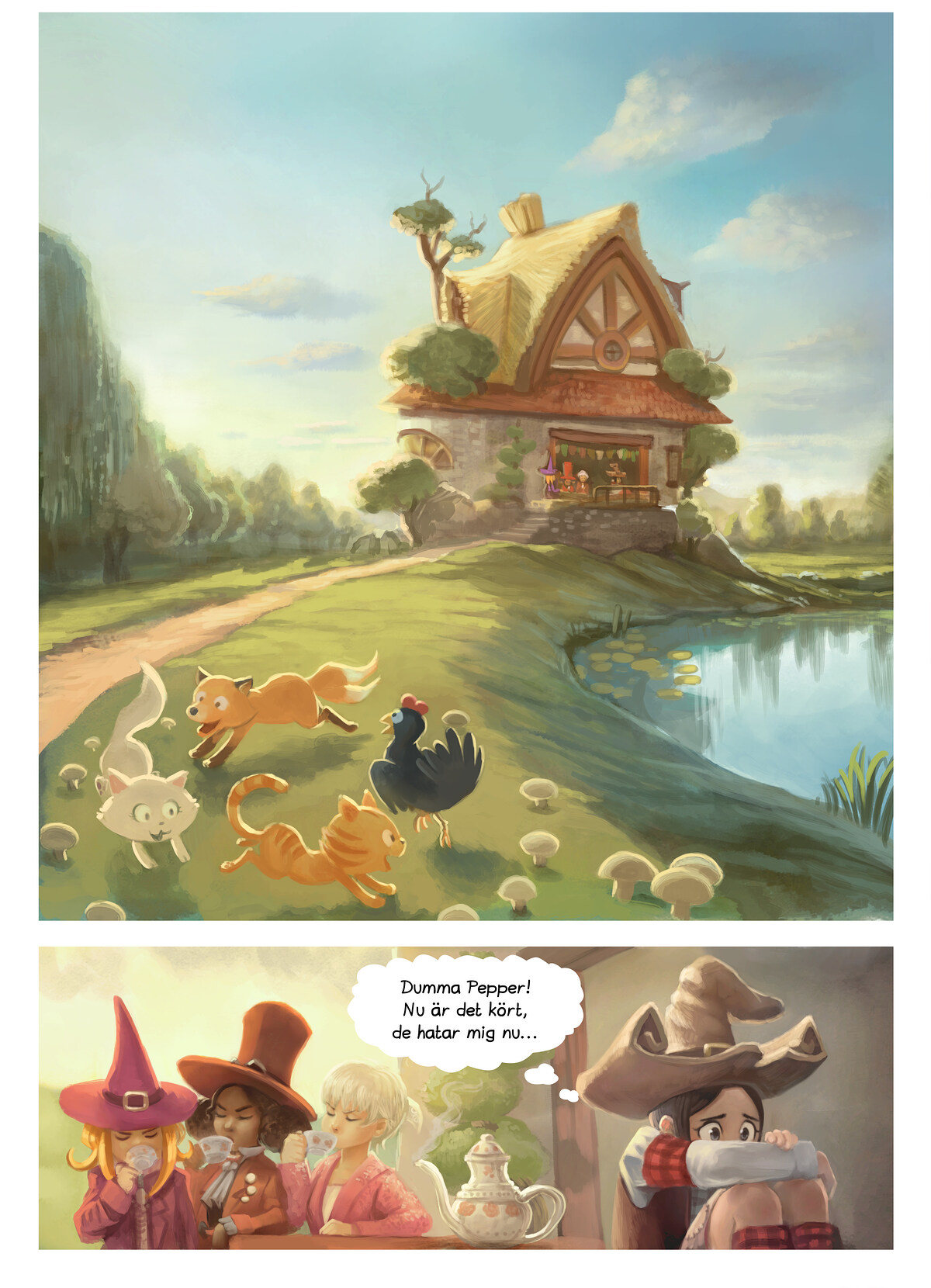 A webcomic page of Pepper&Carrot, episode 9 [sv], page 3