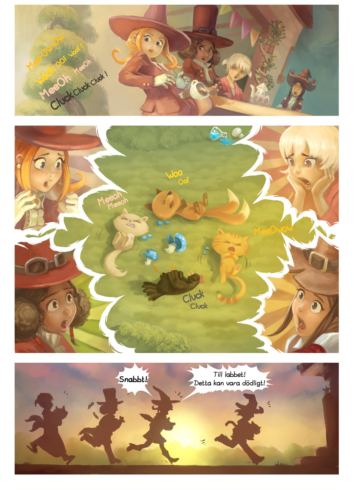 A webcomic page of Pepper&Carrot, episode 9 [sv], page 5