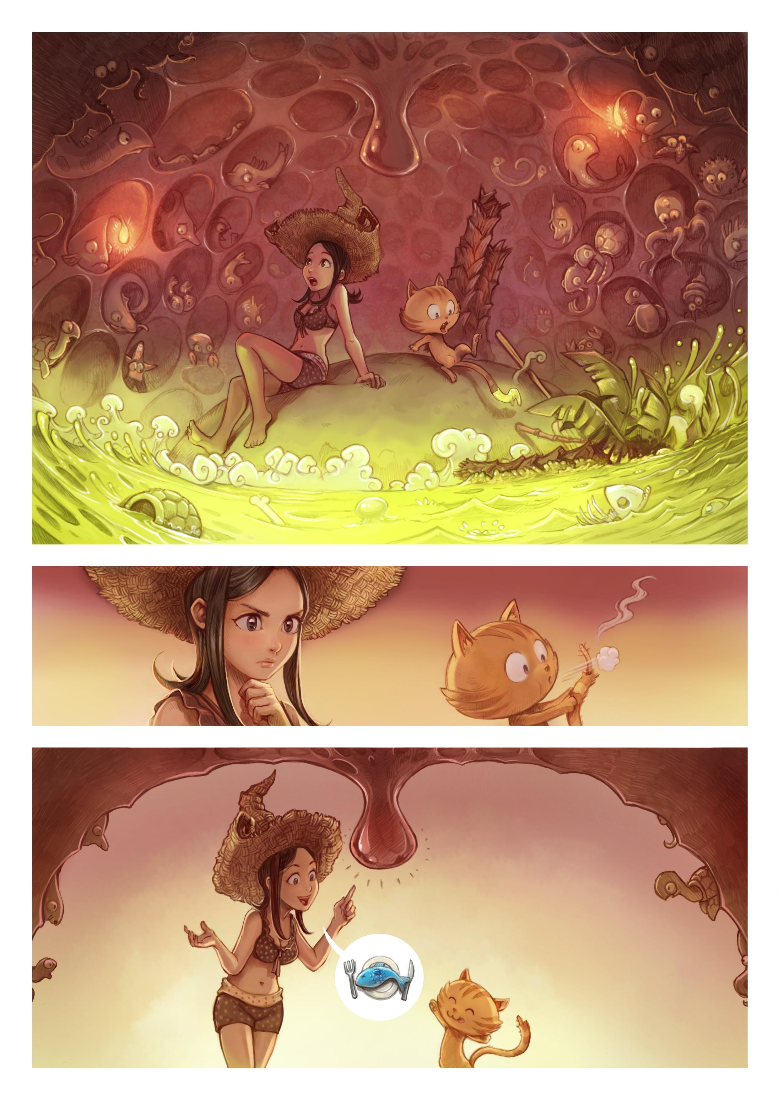 A webcomic page of Pepper&Carrot, epizód 10 [hu], oldal 3