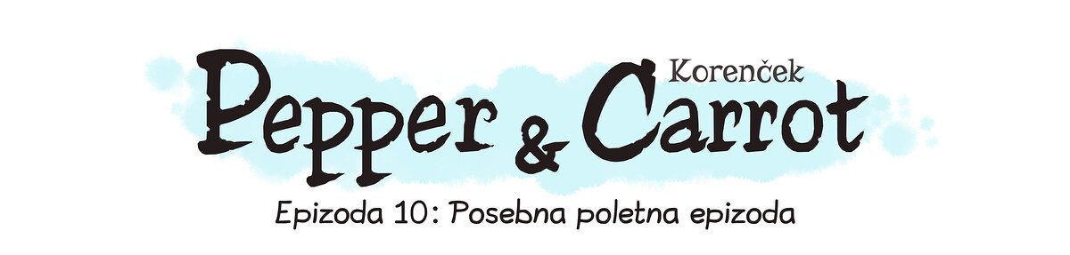A webcomic page of Pepper&Carrot, epizoda 10 [sl], stran 0