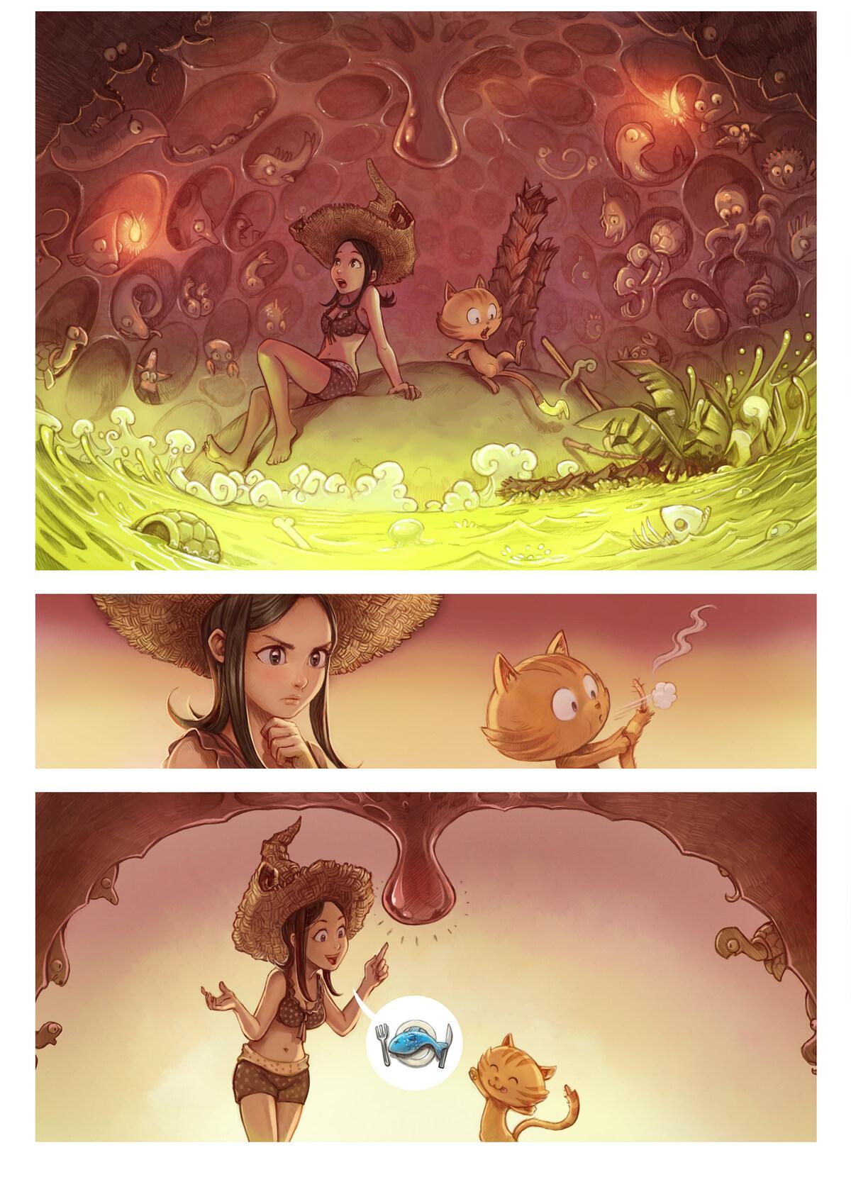 A webcomic page of Pepper&Carrot, epizoda 10 [sl], stran 3