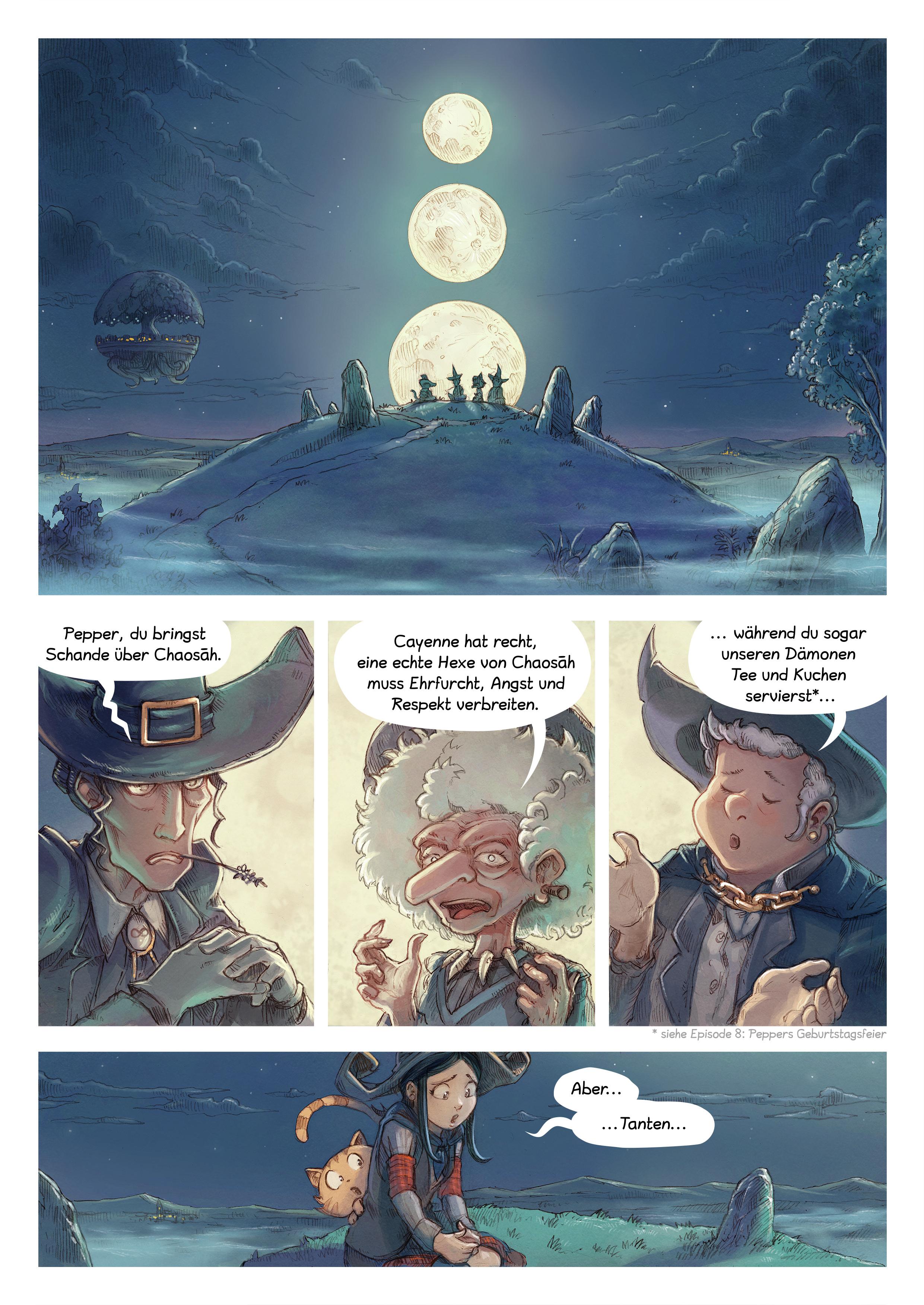 A webcomic page of Pepper&Carrot, Episode 11 [de], Seite 1