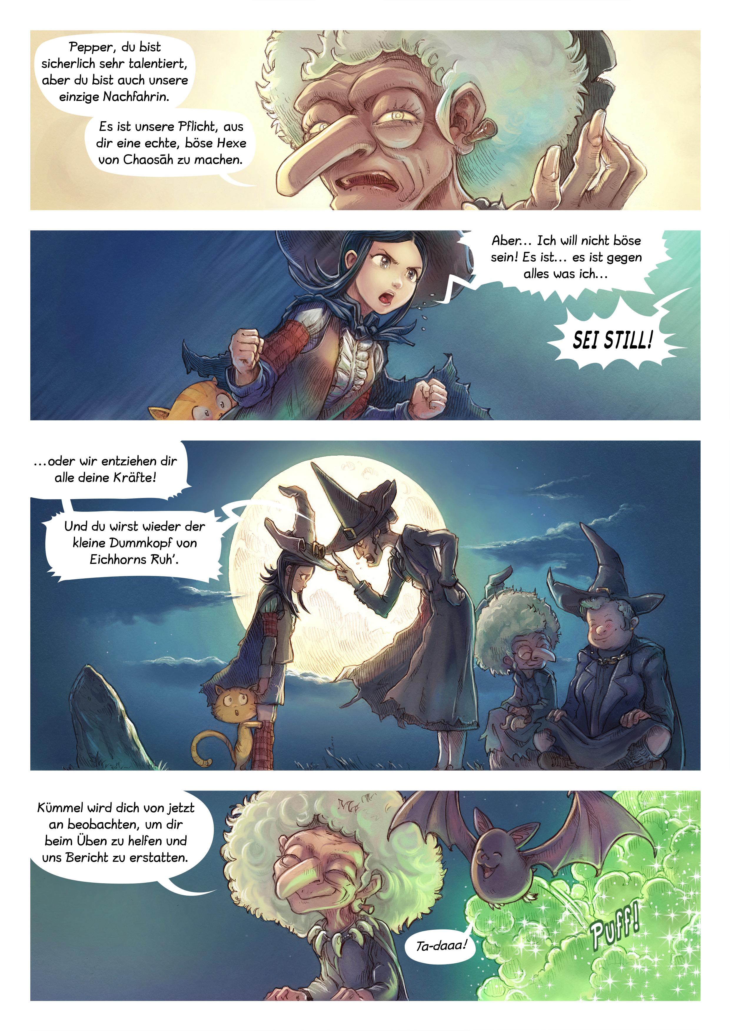 A webcomic page of Pepper&Carrot, Episode 11 [de], Seite 2