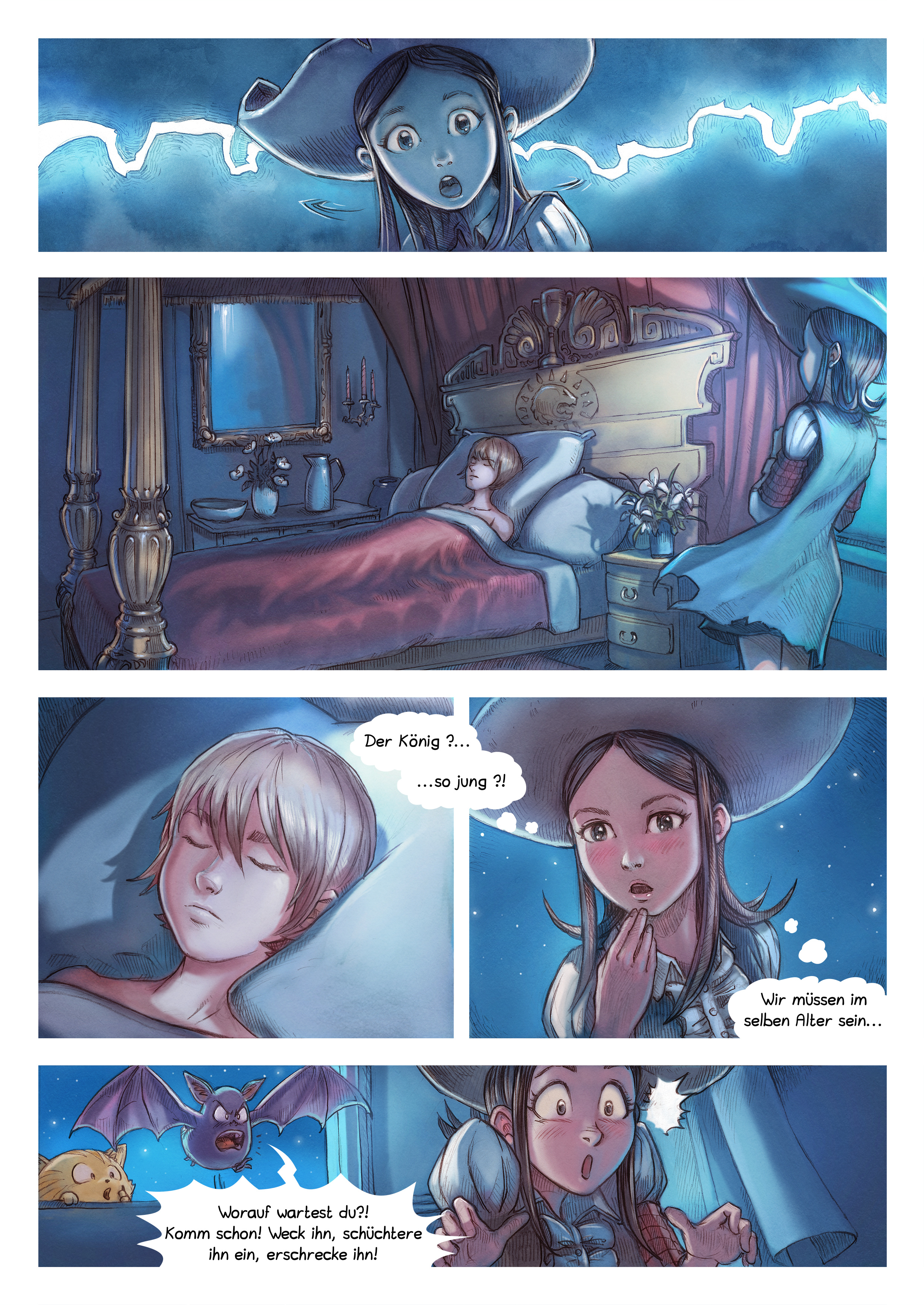 A webcomic page of Pepper&Carrot, Episode 11 [de], Seite 4