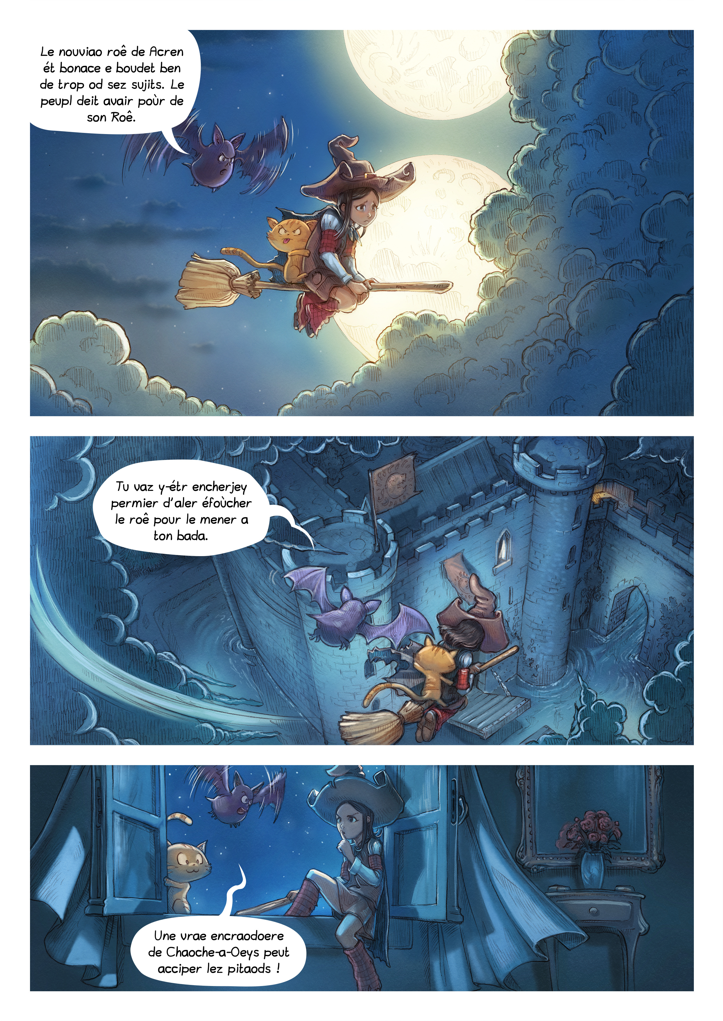 A webcomic page of Pepper&Carrot, episode 11 [go], page 3