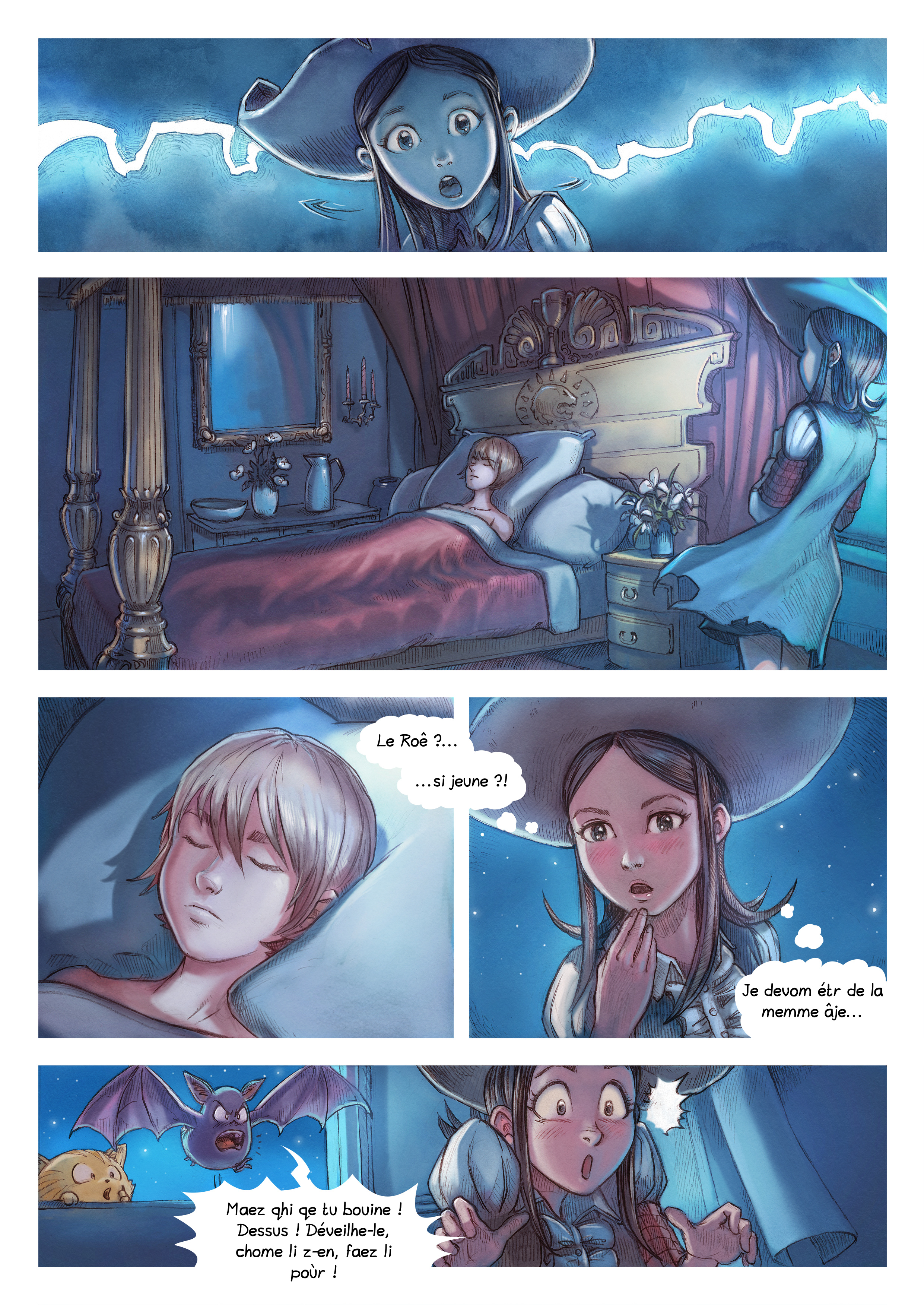 A webcomic page of Pepper&Carrot, episode 11 [go], page 4