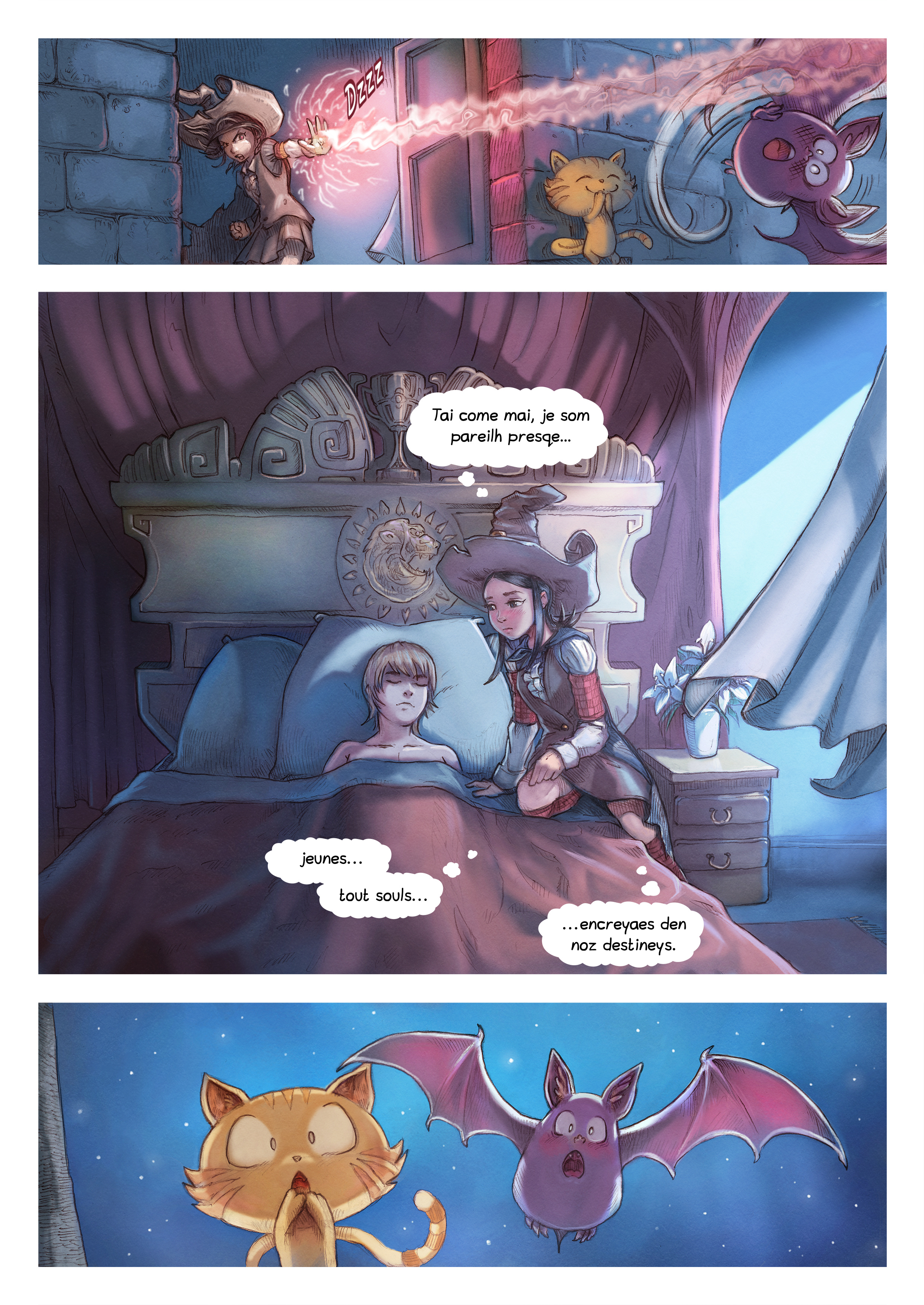 A webcomic page of Pepper&Carrot, episode 11 [go], page 5
