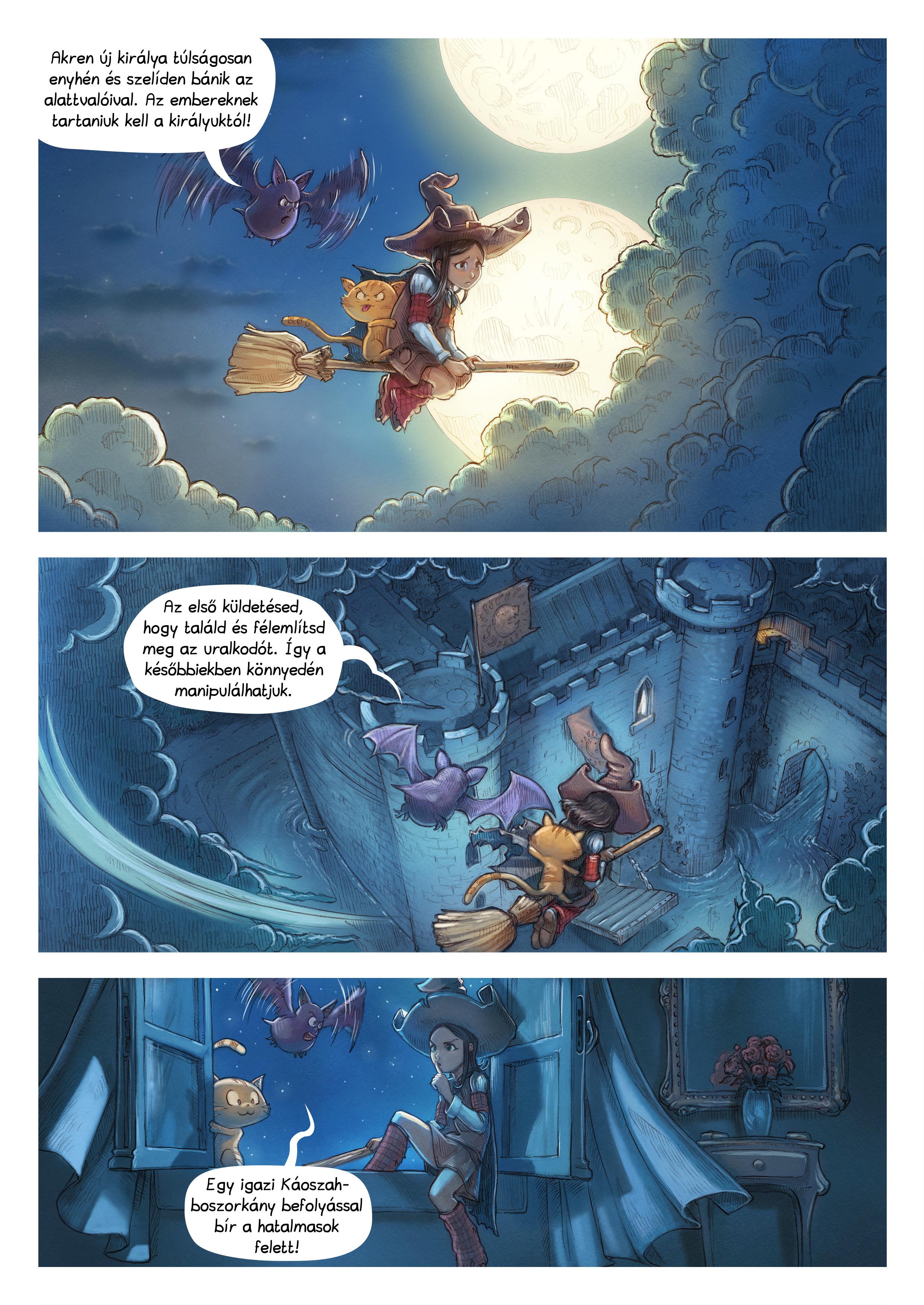 A webcomic page of Pepper&Carrot, epizód 11 [hu], oldal 3
