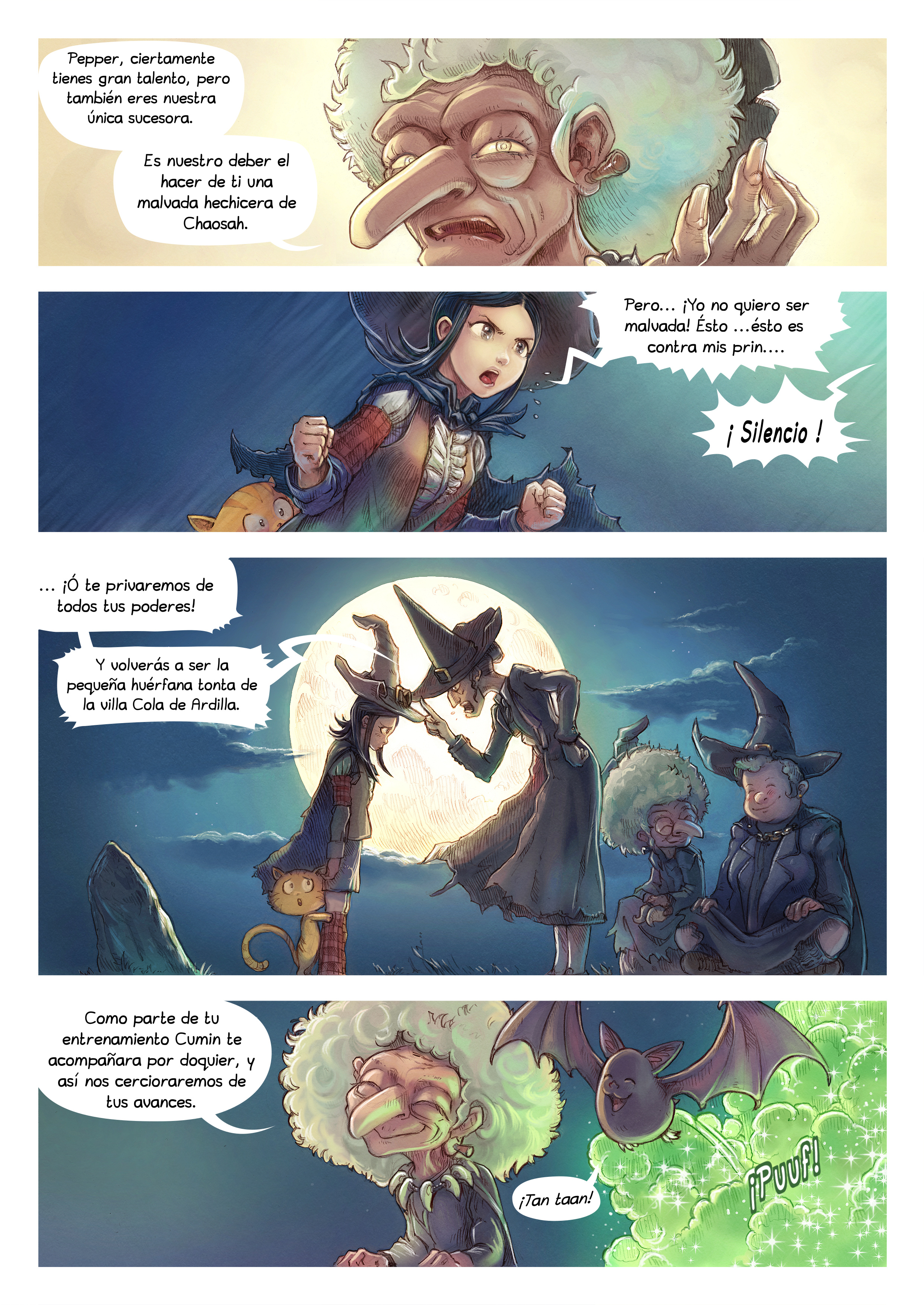 A webcomic page of Pepper&Carrot, episode 11 [mx], page 2