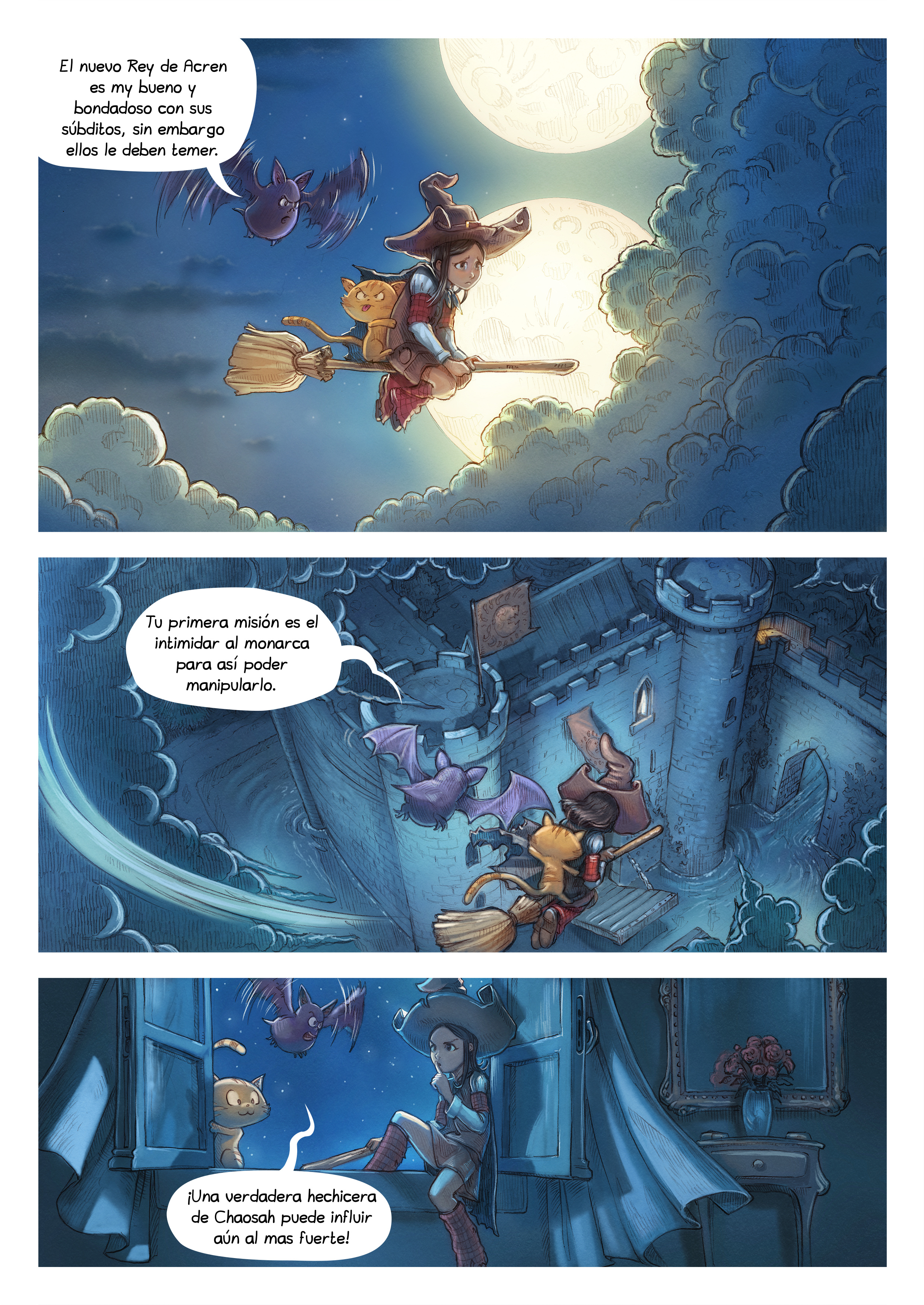 A webcomic page of Pepper&Carrot, episode 11 [mx], page 3