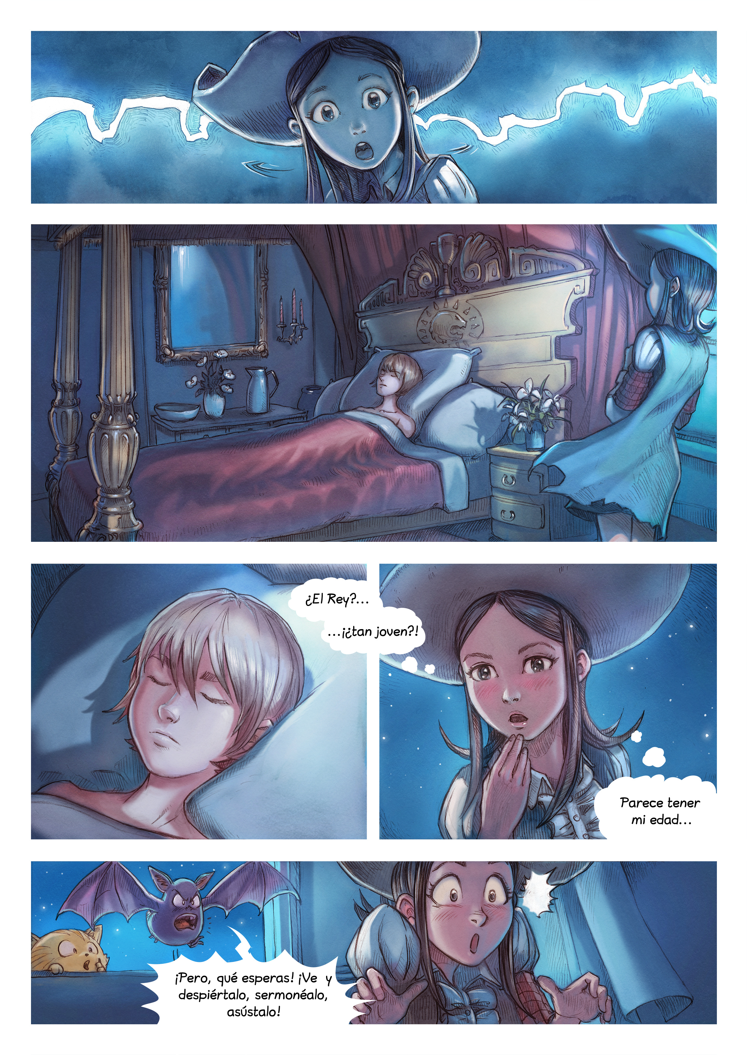 A webcomic page of Pepper&Carrot, episode 11 [mx], page 4
