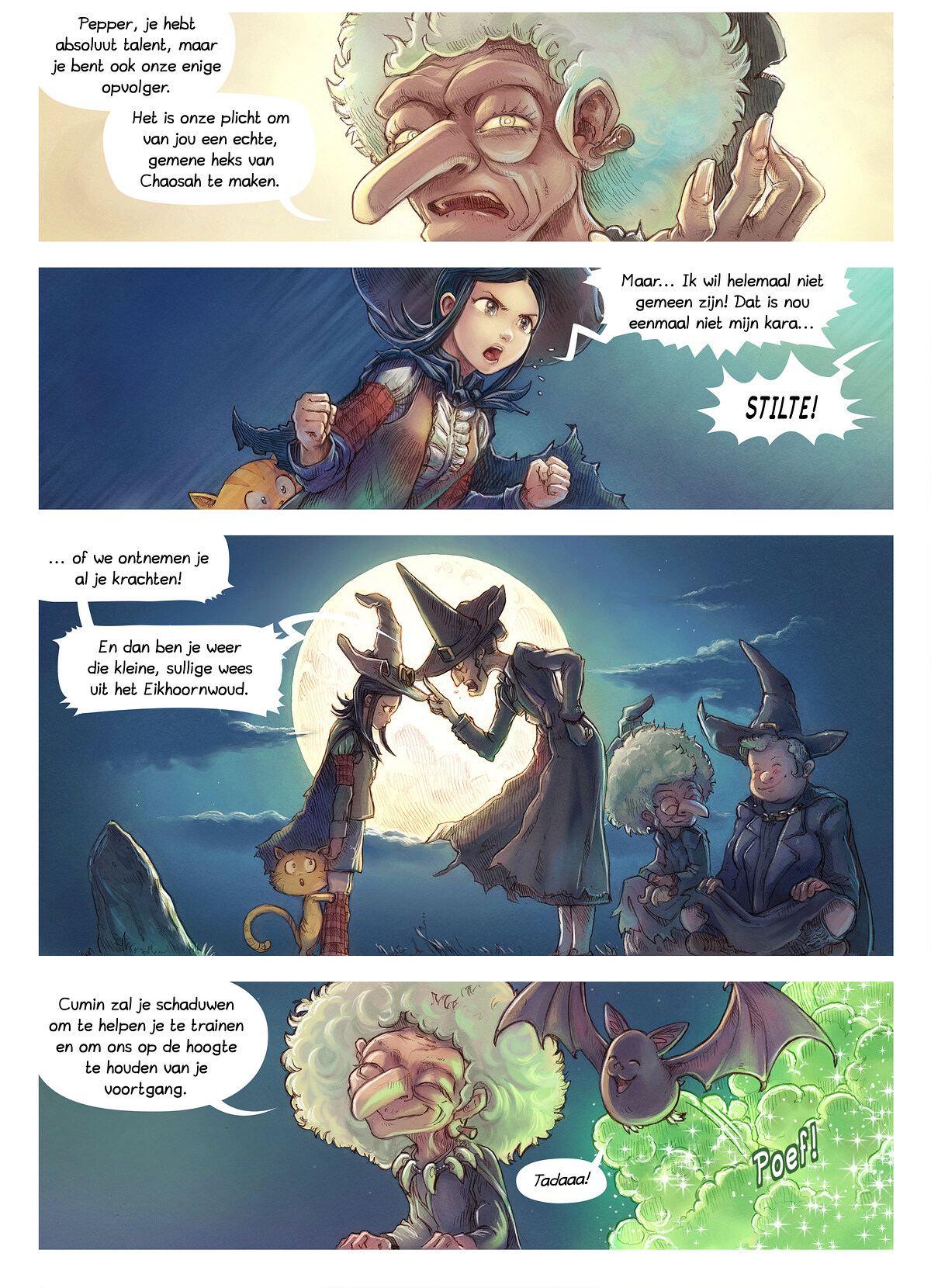 A webcomic page of Pepper&Carrot, aflevering 11 [nl], pagina 2