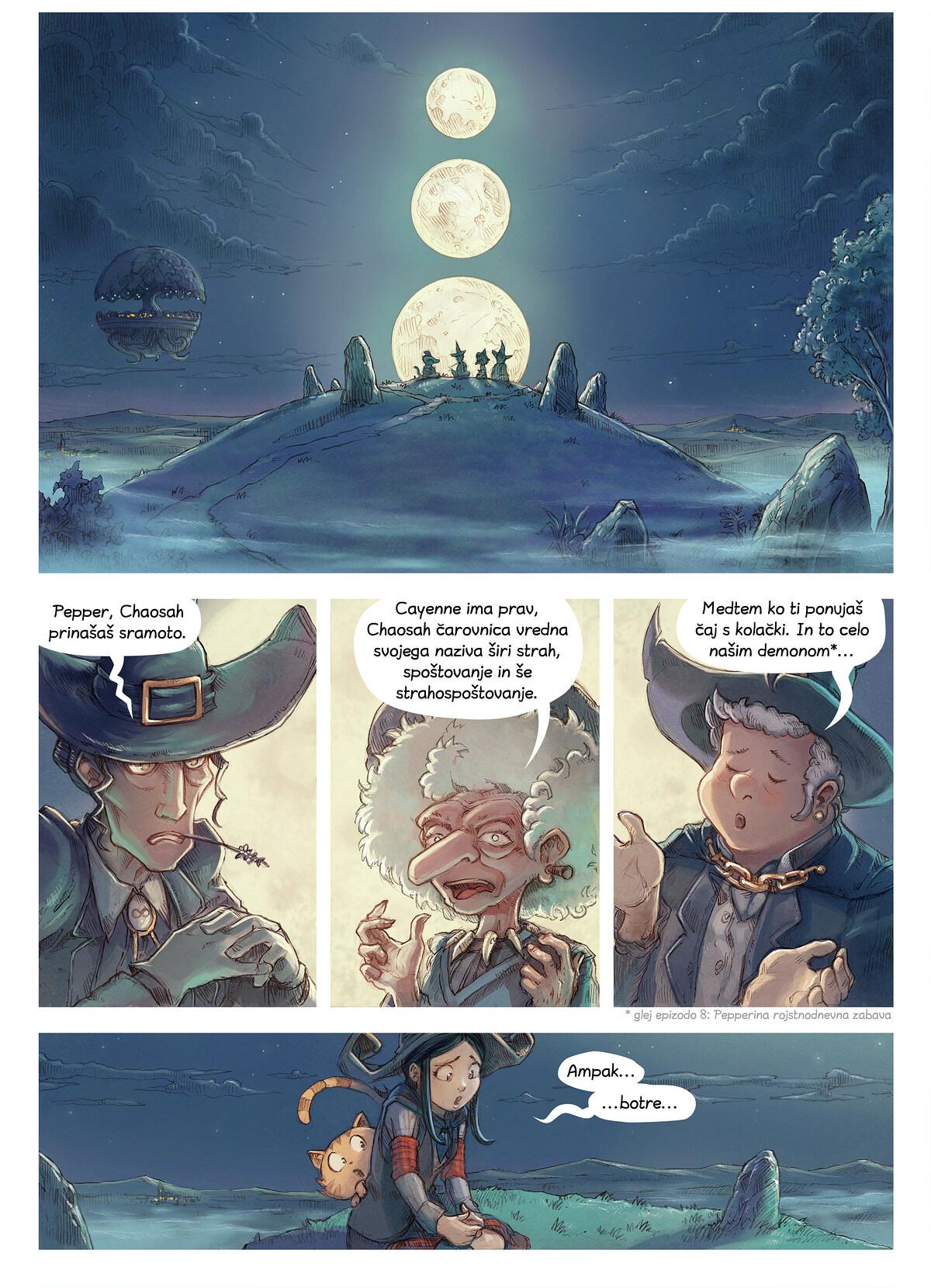 A webcomic page of Pepper&Carrot, epizoda 11 [sl], stran 1
