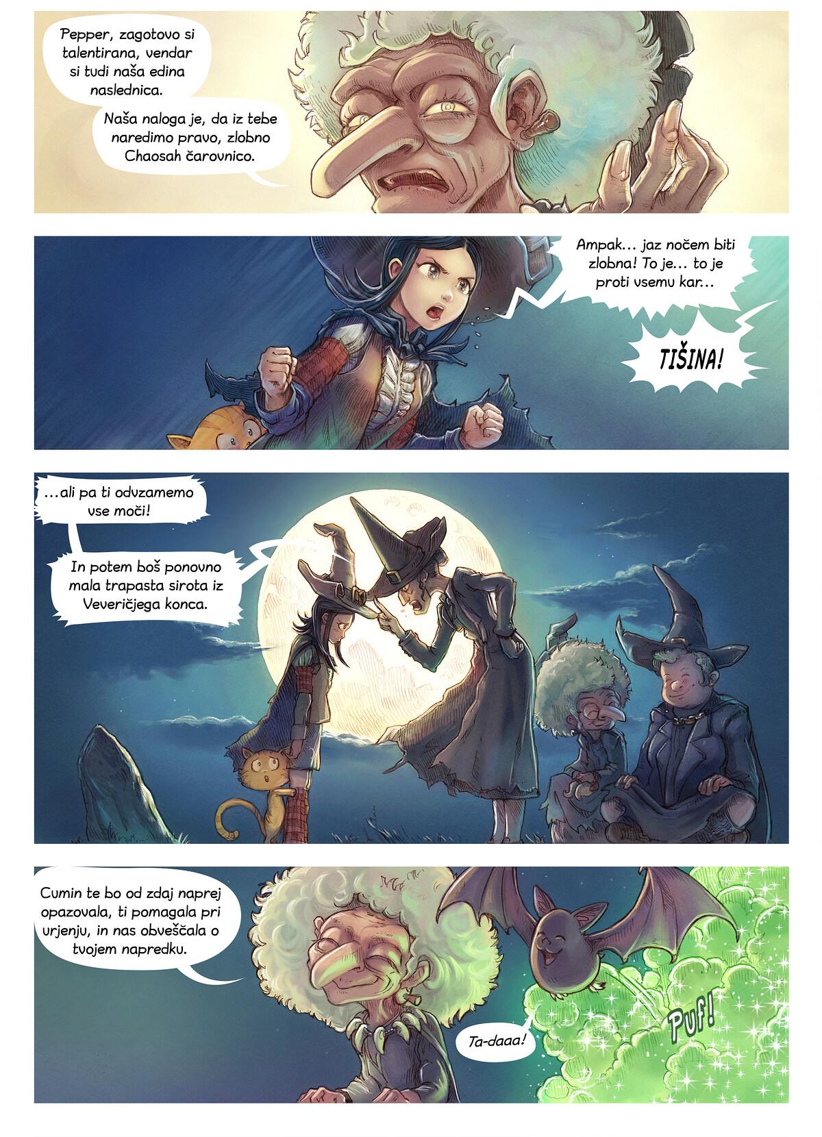 A webcomic page of Pepper&Carrot, epizoda 11 [sl], stran 2