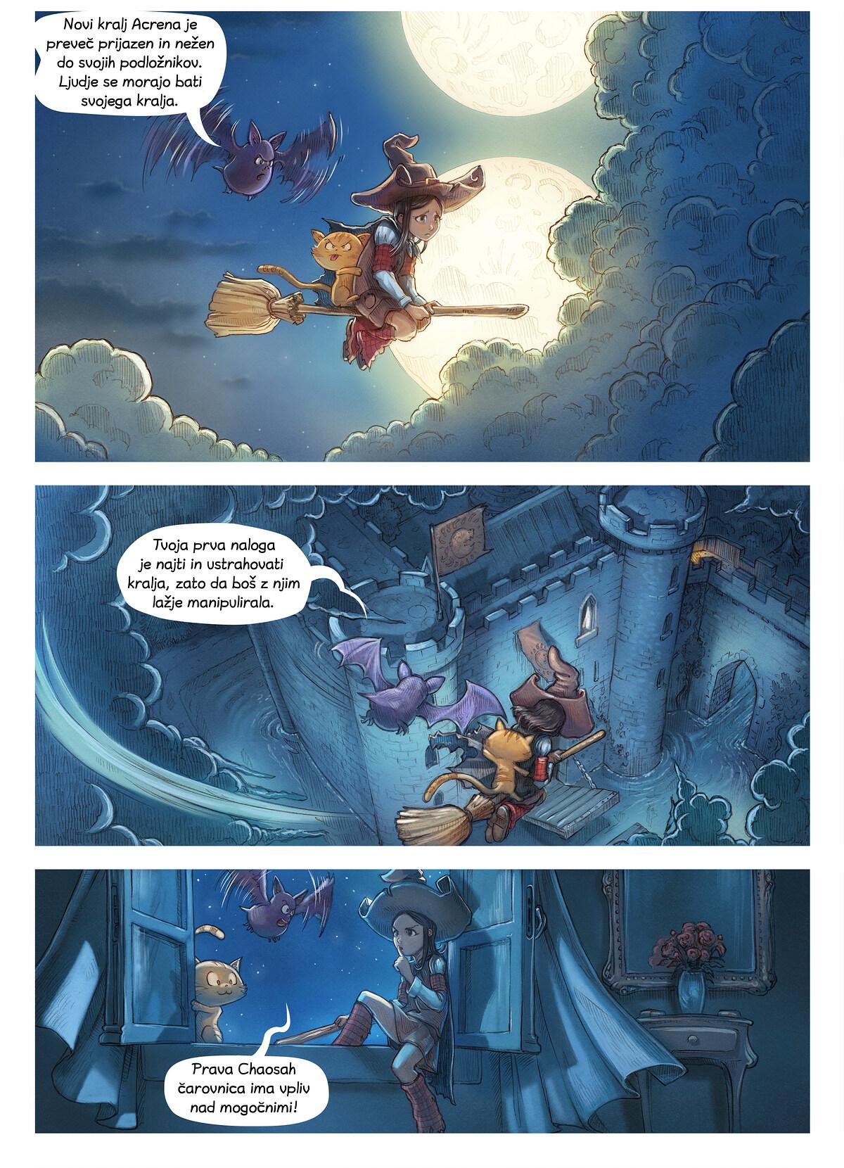 A webcomic page of Pepper&Carrot, epizoda 11 [sl], stran 3