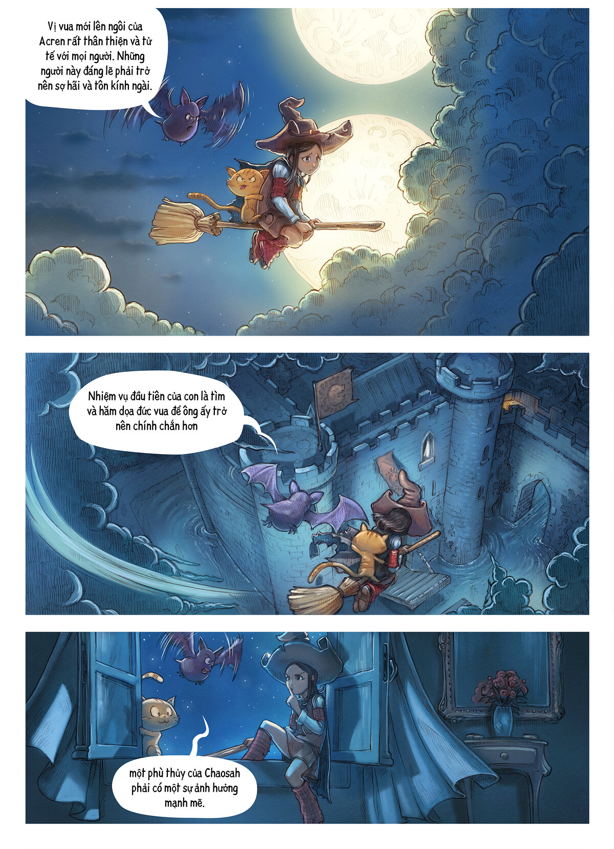 A webcomic page of Pepper&Carrot, Tập 11 [vi], trang 3