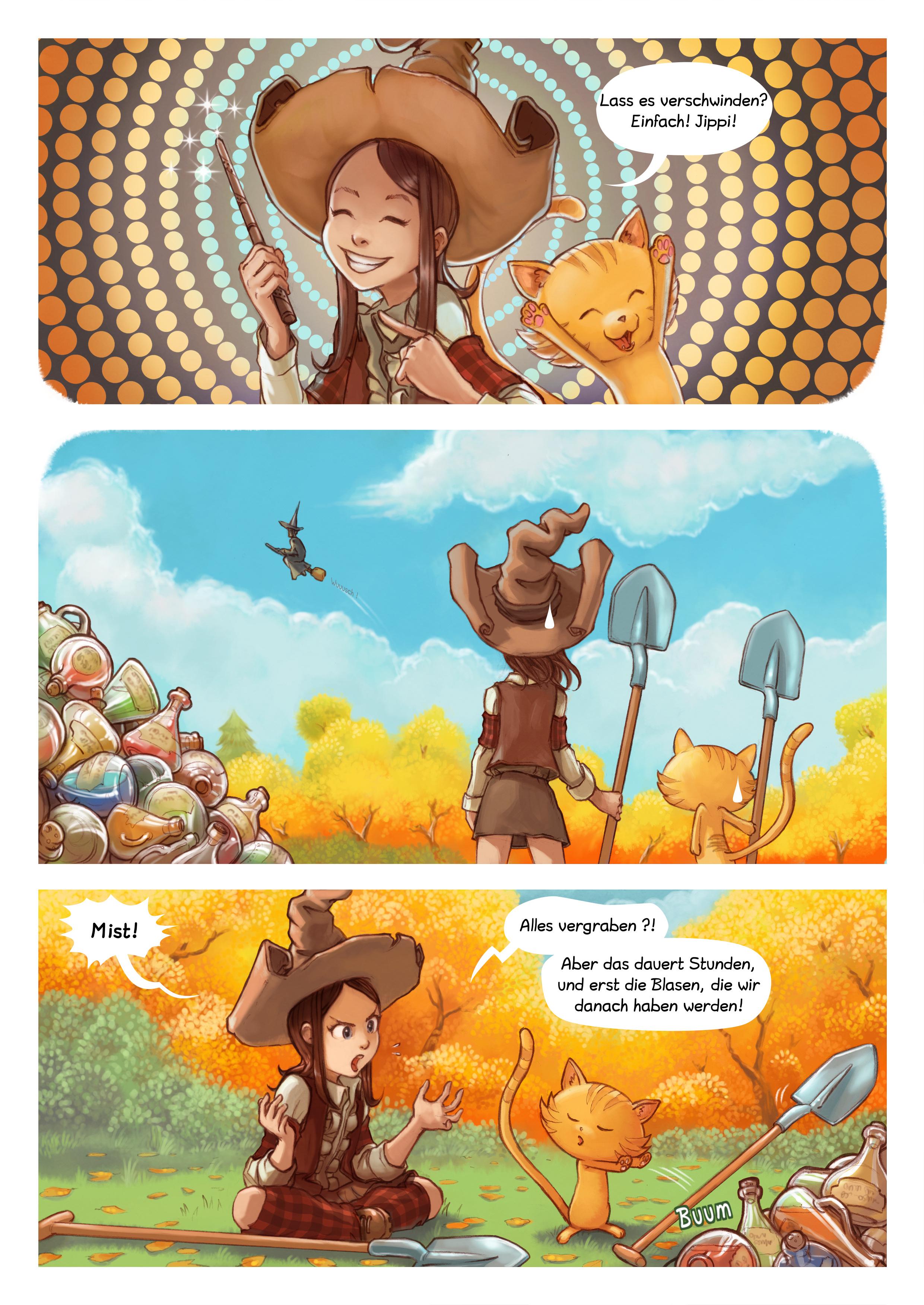 A webcomic page of Pepper&Carrot, Episode 12 [de], Seite 2