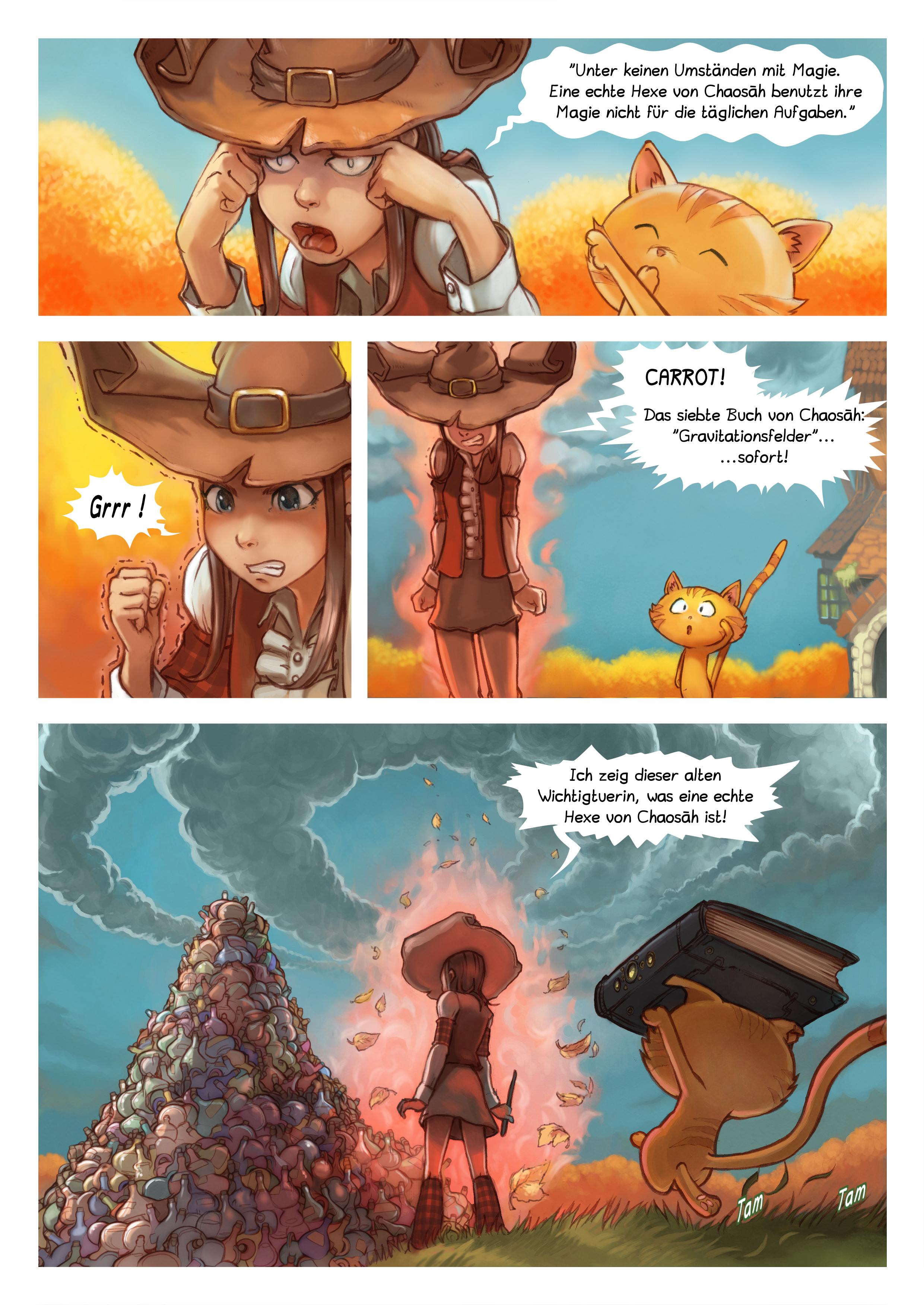 A webcomic page of Pepper&Carrot, Episode 12 [de], Seite 3