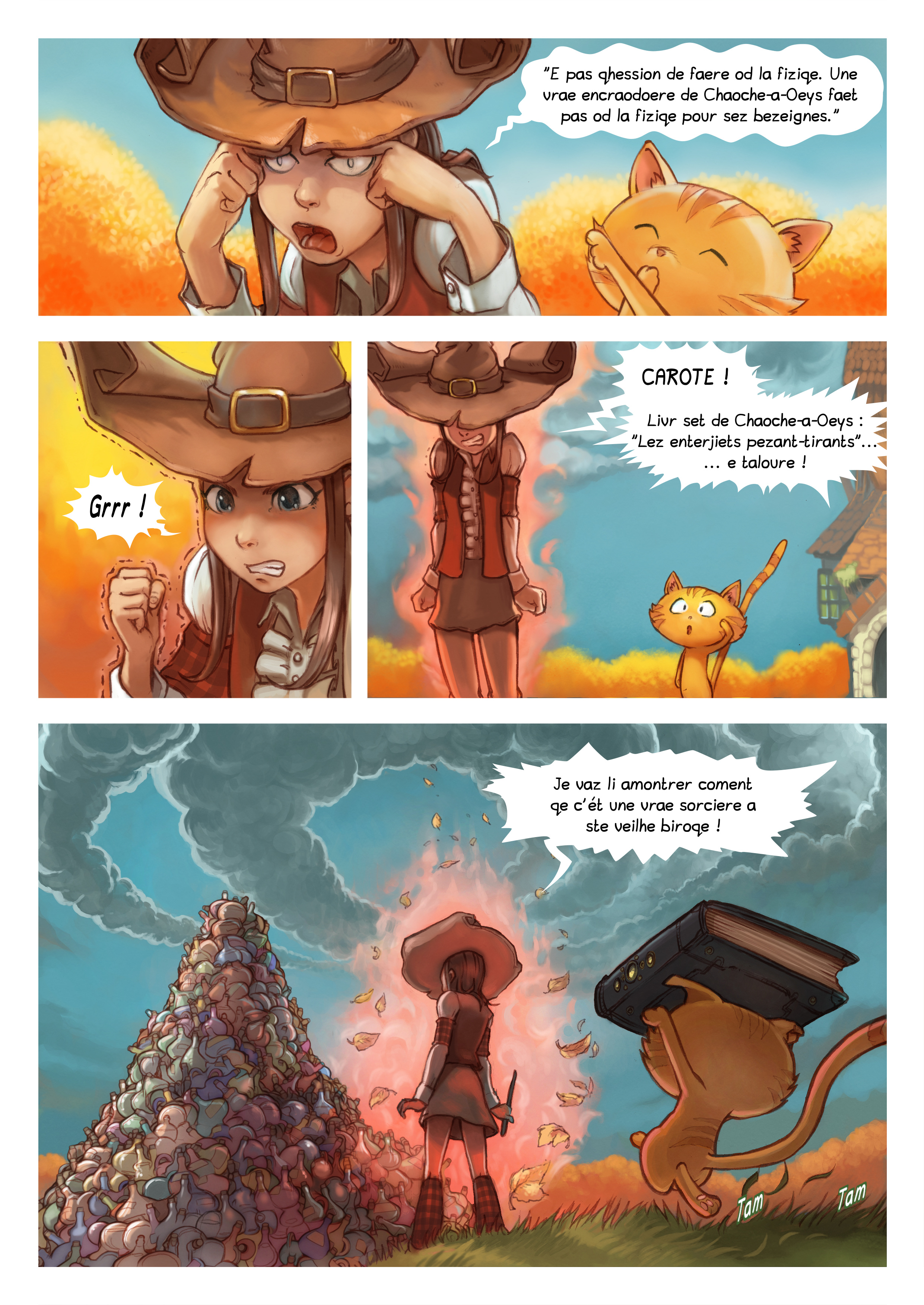 A webcomic page of Pepper&Carrot, episode 12 [go], page 3
