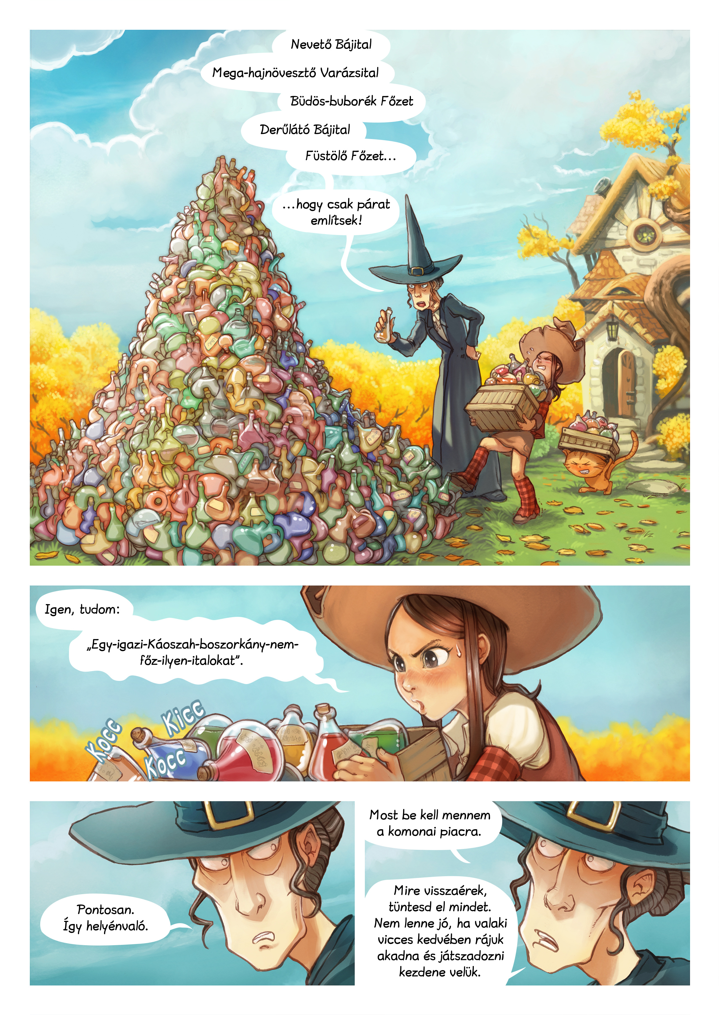 A webcomic page of Pepper&Carrot, epizód 12 [hu], oldal 1