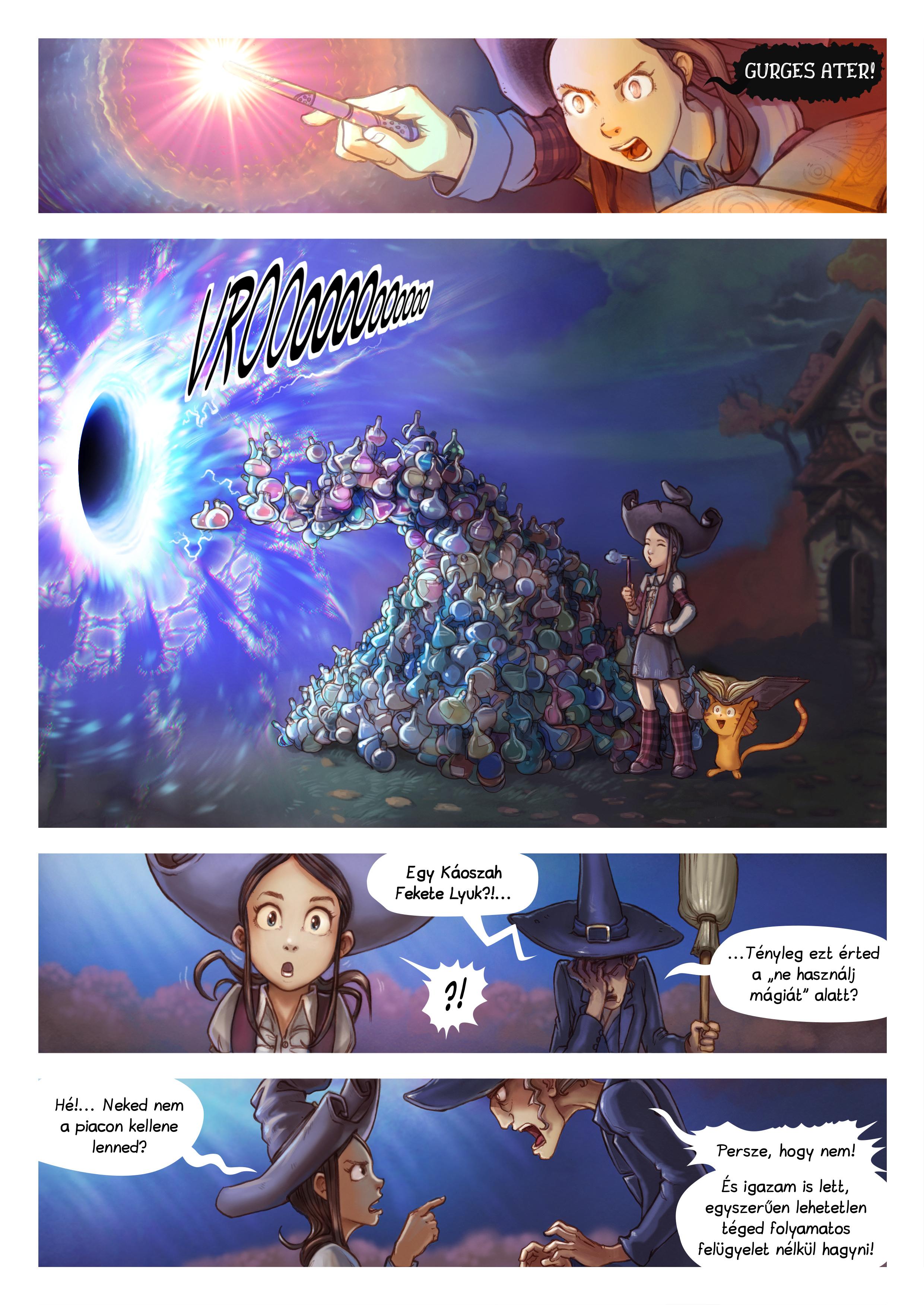 A webcomic page of Pepper&Carrot, epizód 12 [hu], oldal 4