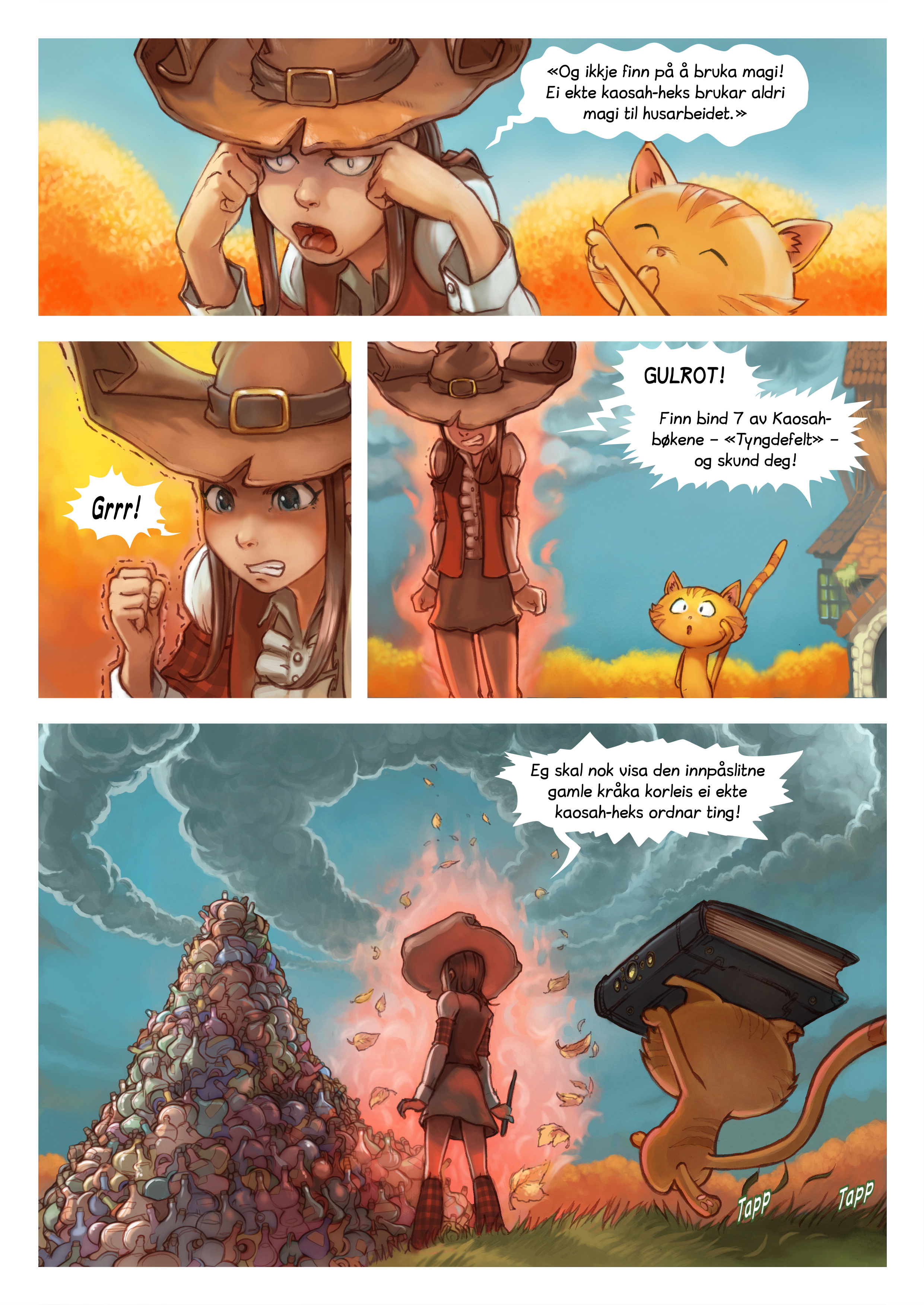 A webcomic page of Pepper&Carrot, episode 12 [nn], side 3