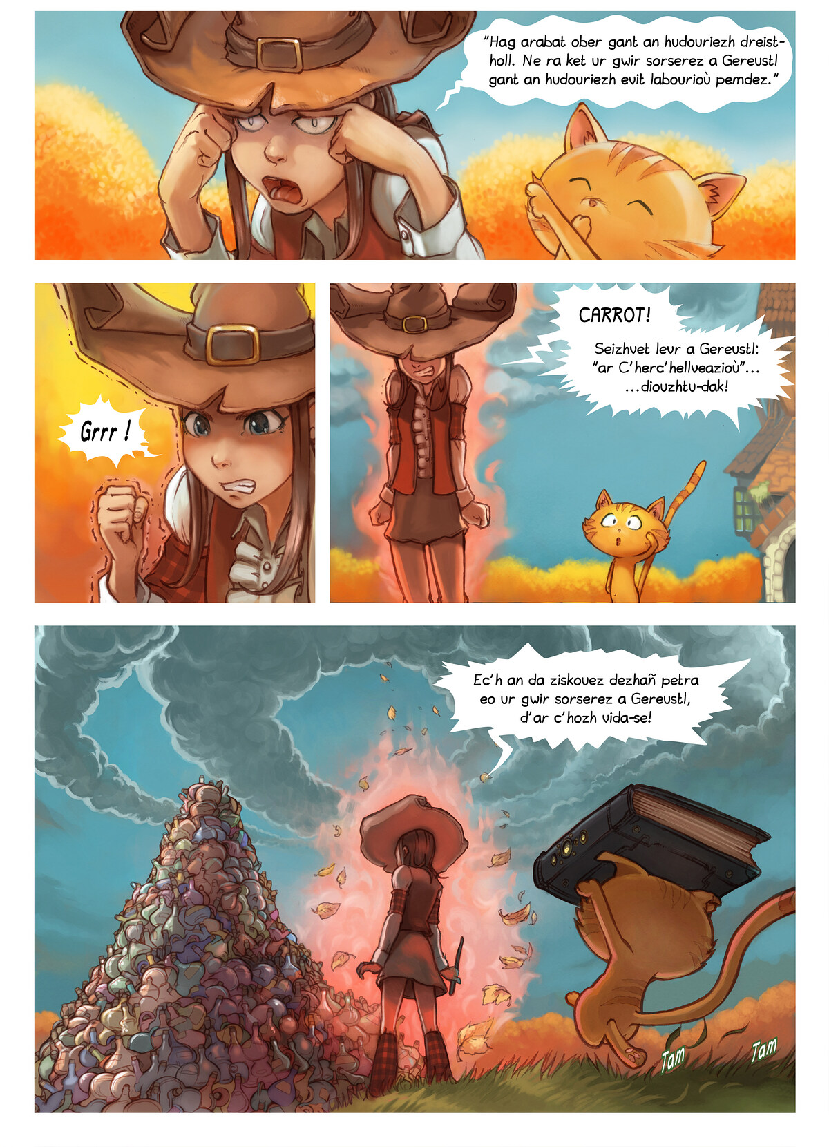 A webcomic page of Pepper&Carrot, rann 12 [br], pajenn 3