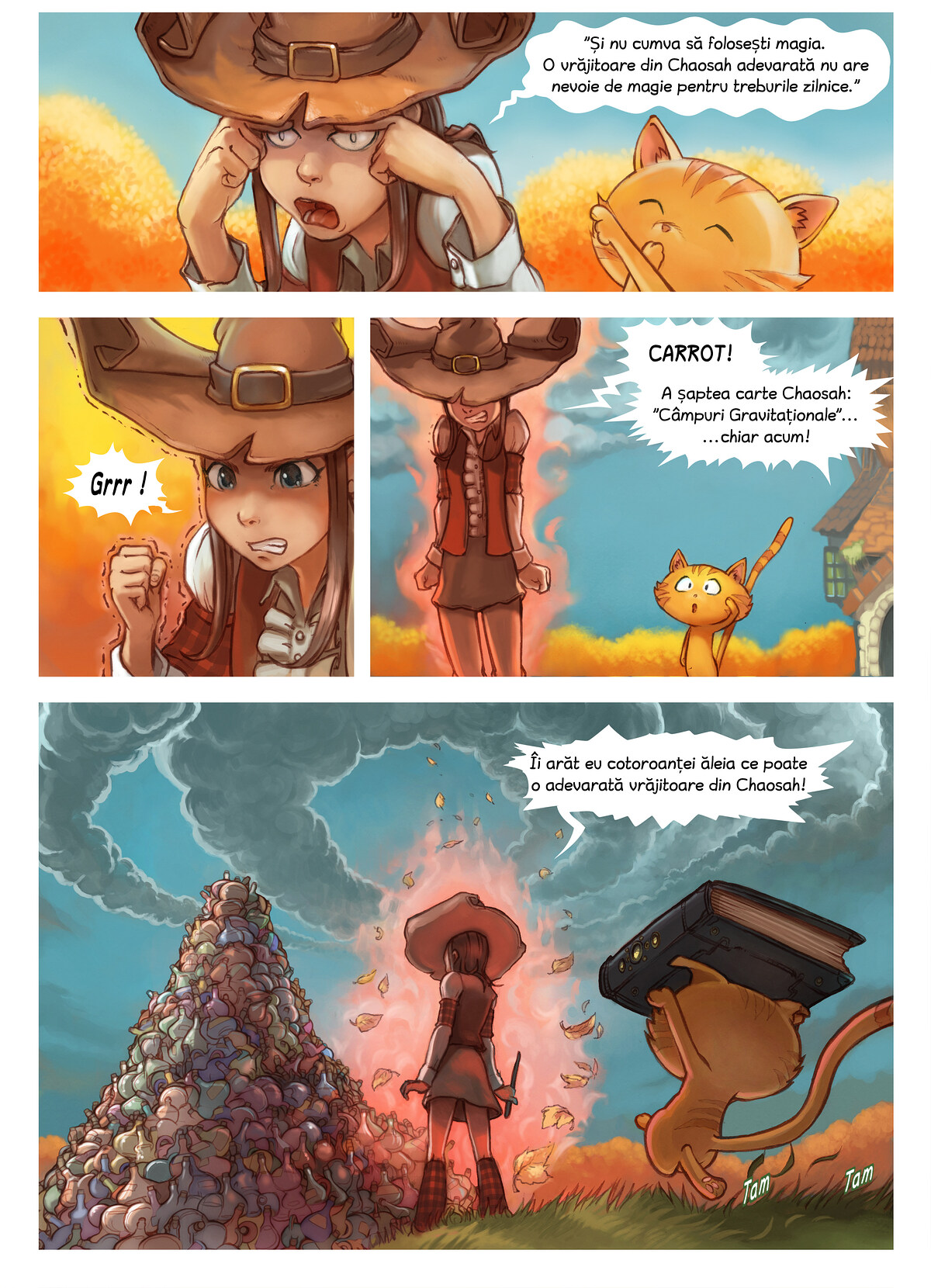 A webcomic page of Pepper&Carrot, episod 12 [ro], pagină 3