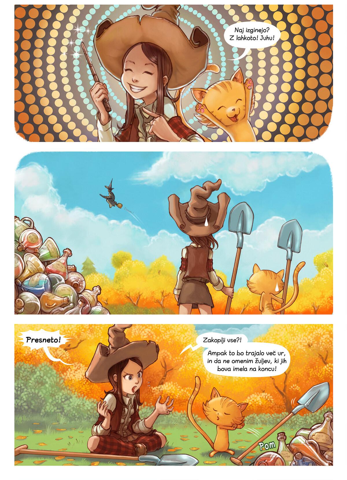 A webcomic page of Pepper&Carrot, epizoda 12 [sl], stran 2
