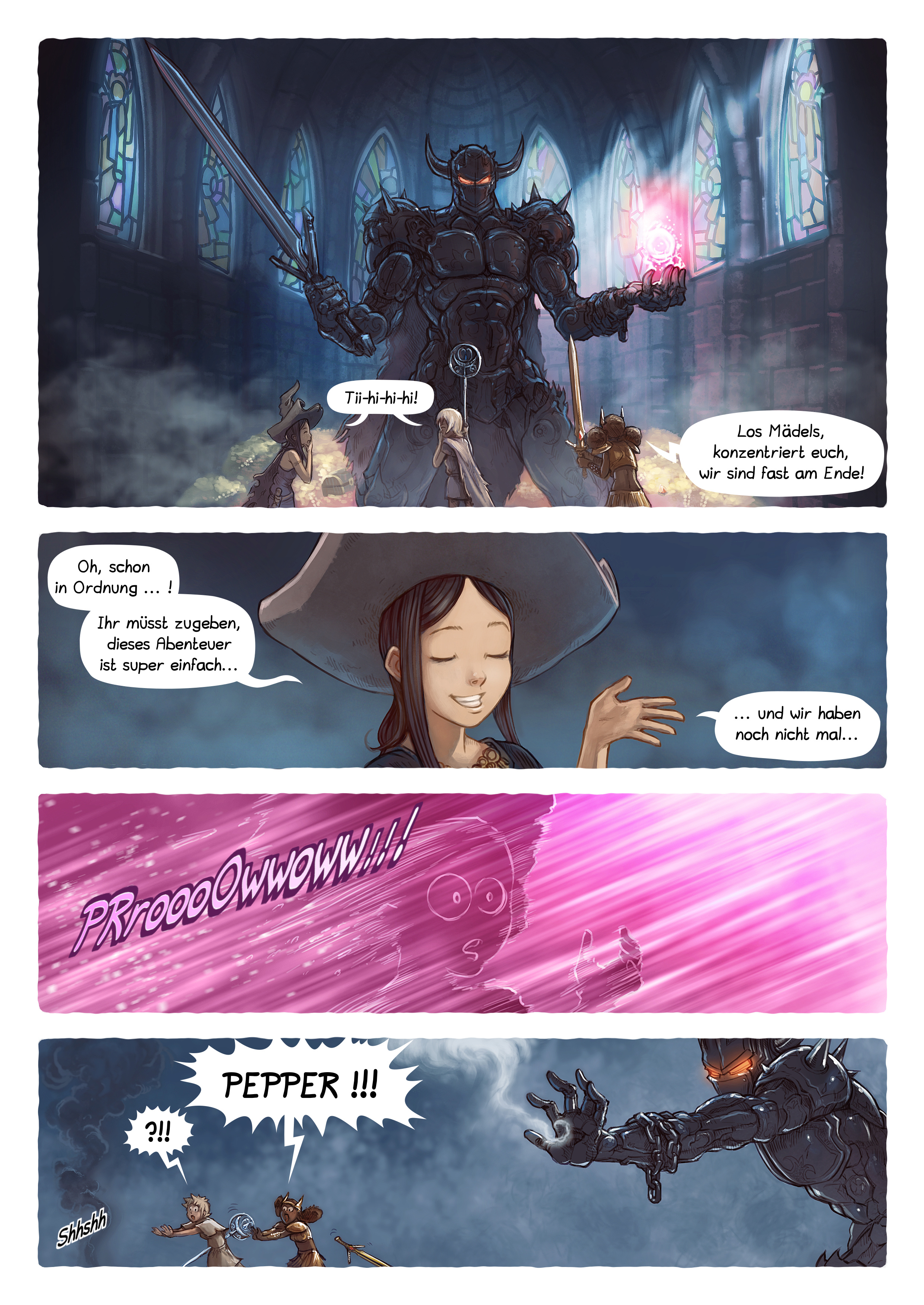 A webcomic page of Pepper&Carrot, Episode 13 [de], Seite 4