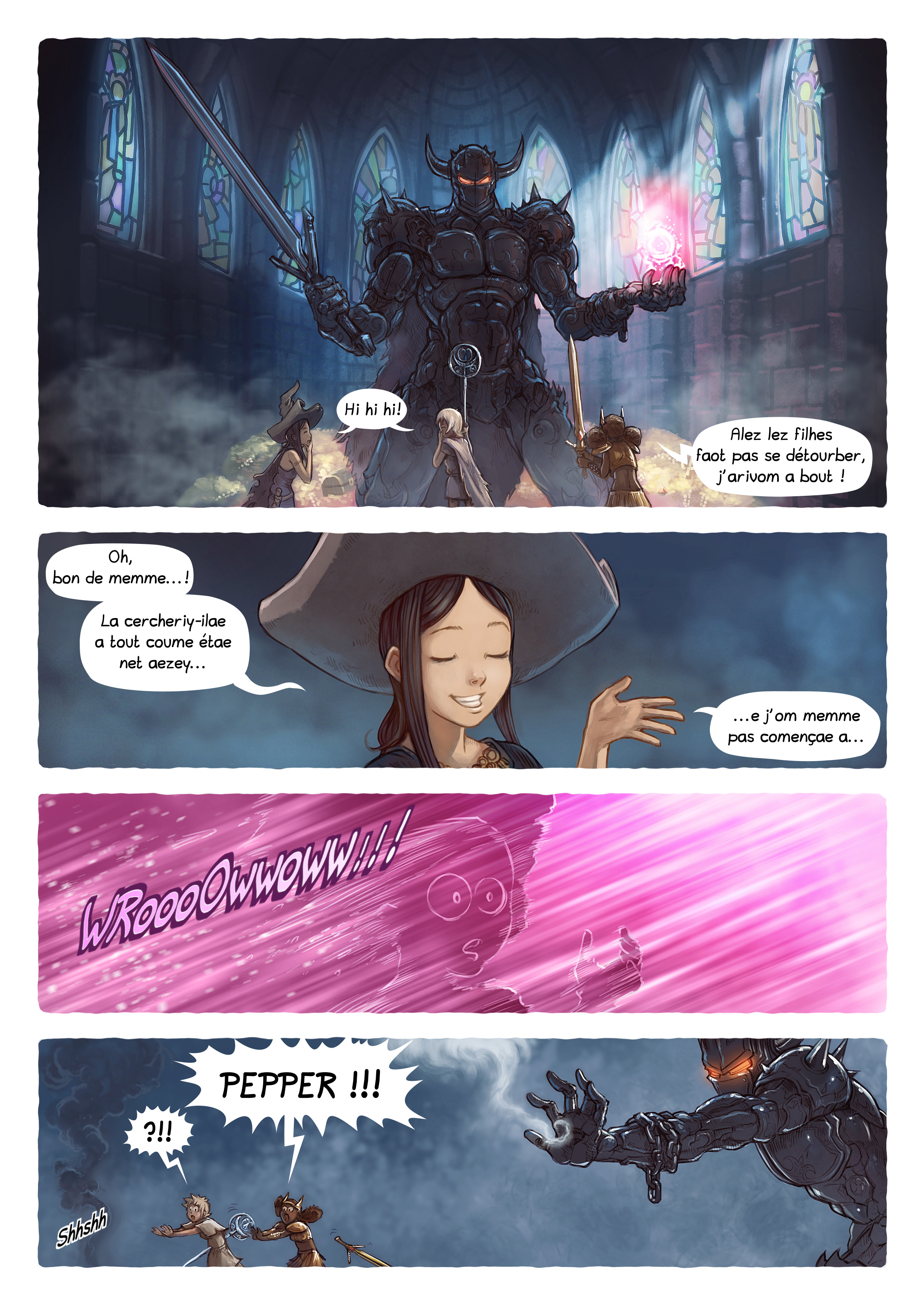 A webcomic page of Pepper&Carrot, episode 13 [go], page 4