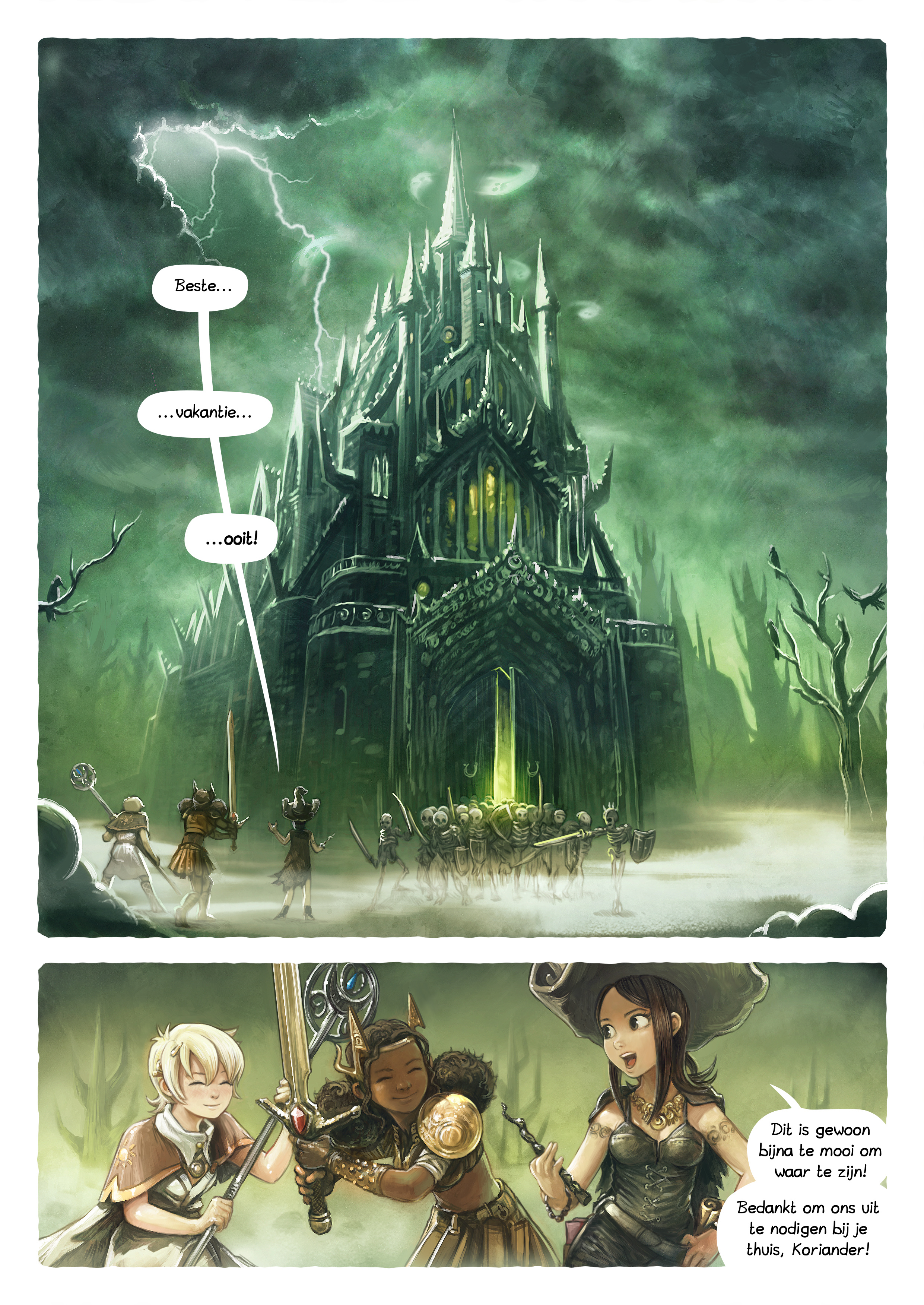 A webcomic page of Pepper&Carrot, aflevering 13 [nl], pagina 1